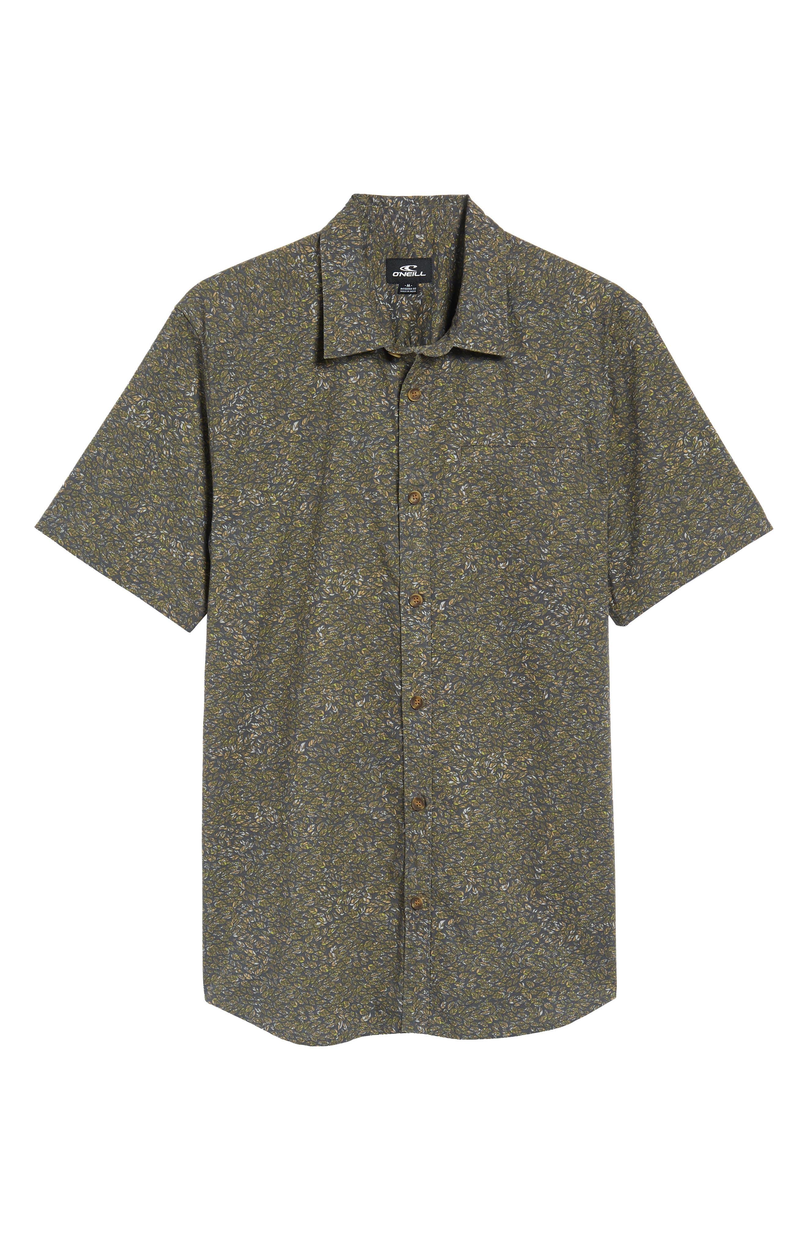 Livingston Short Sleeve Shirt,                             Alternate thumbnail 6, color,                             Asphalt