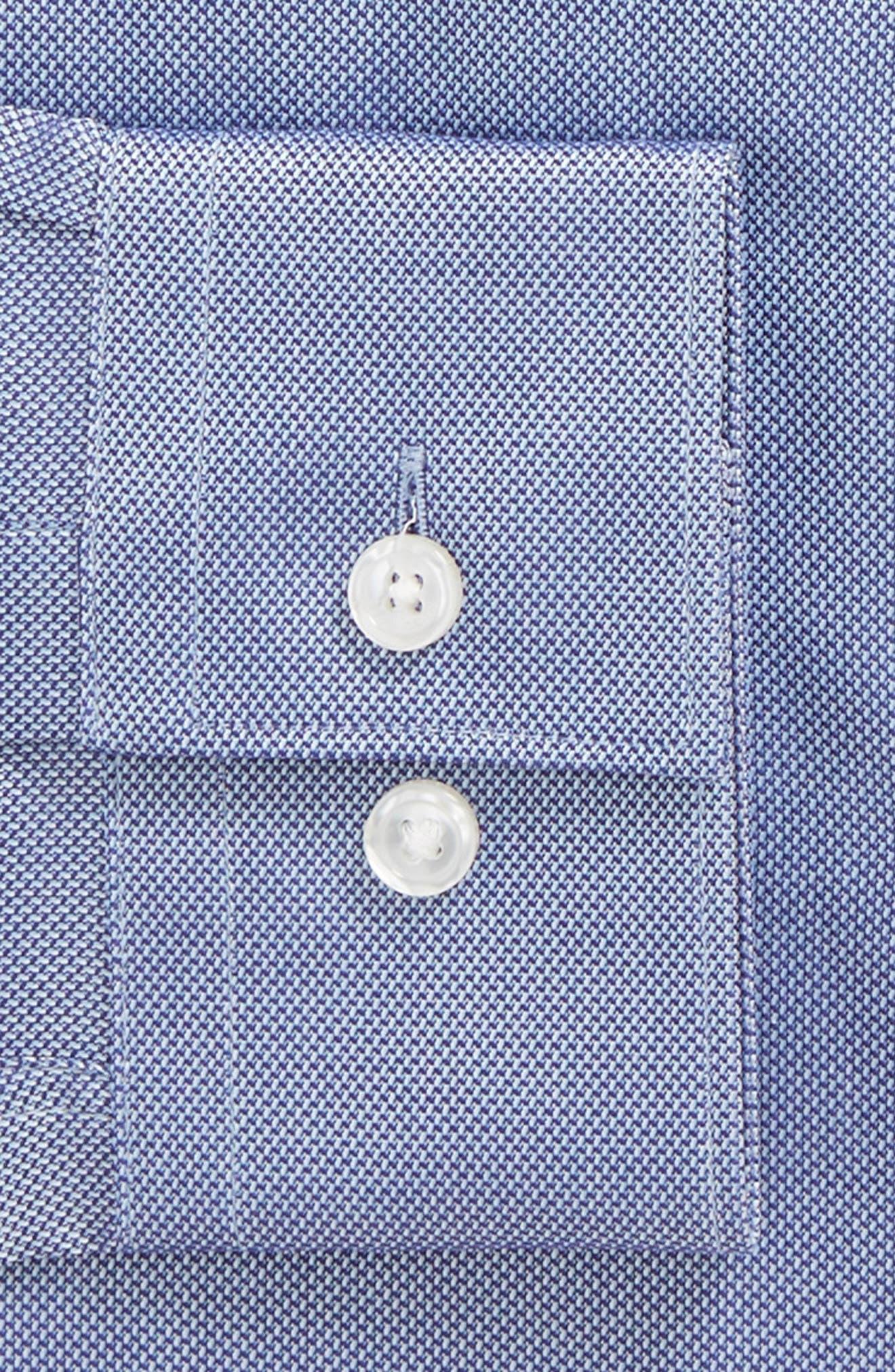 Nordstrom x BOSS Isaak Slim Fit Solid Dress Shirt,                             Alternate thumbnail 2, color,                             Blue