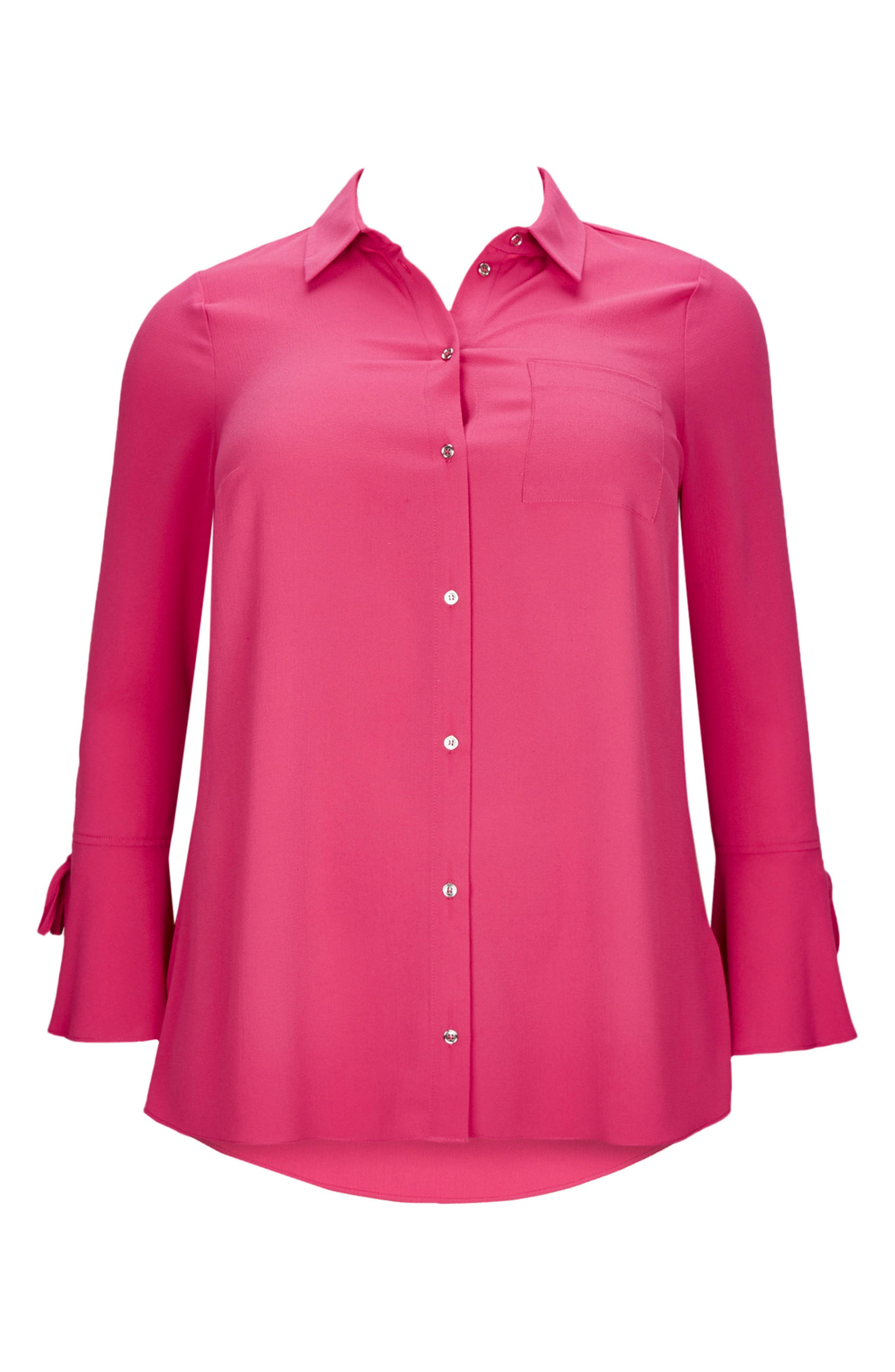 Evans Lace-Up Cuff Shirt (Plus Size)