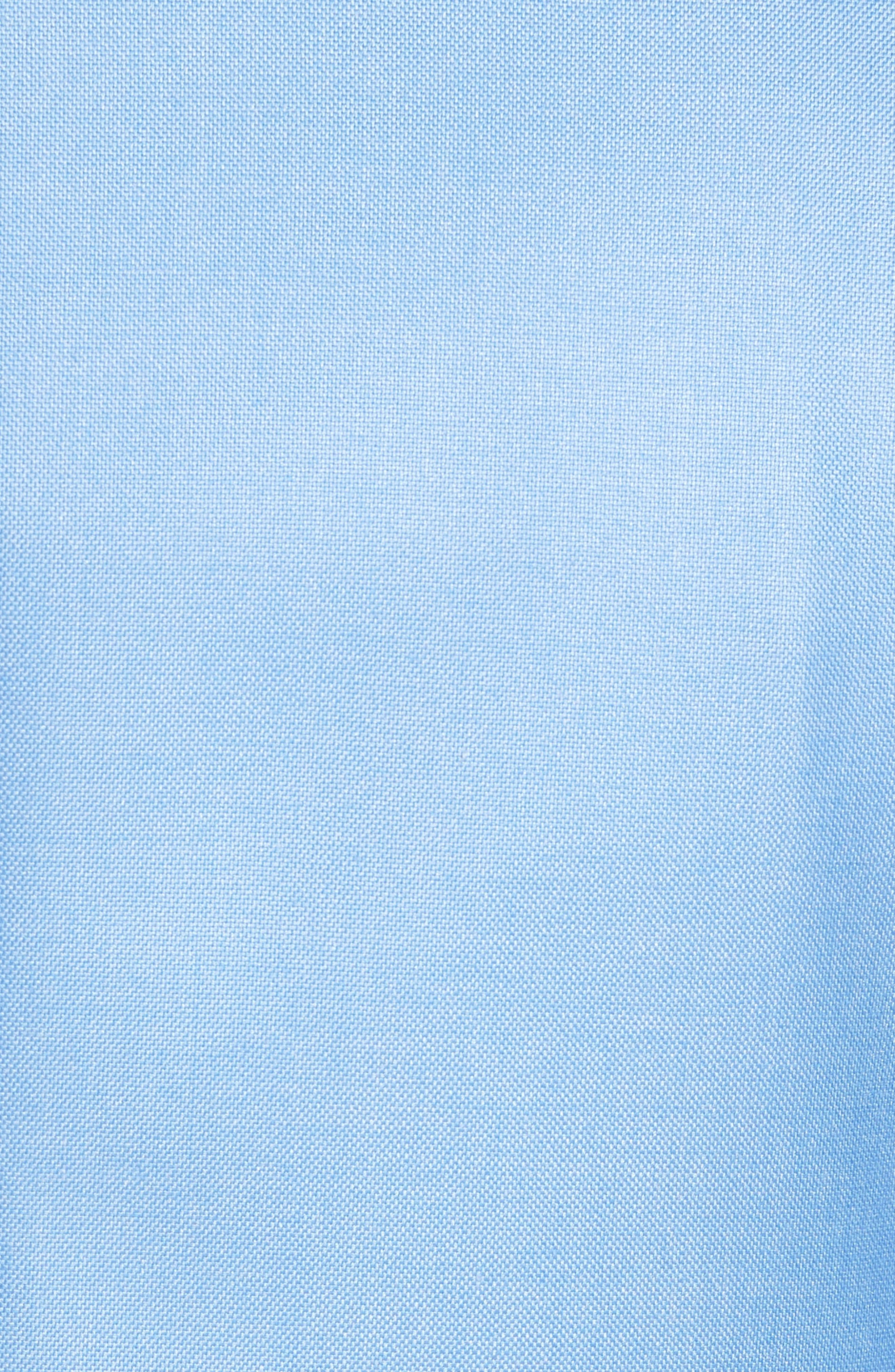 Classic B Fit Wool & Silk Blazer,                             Alternate thumbnail 5, color,                             Light Blue Solid