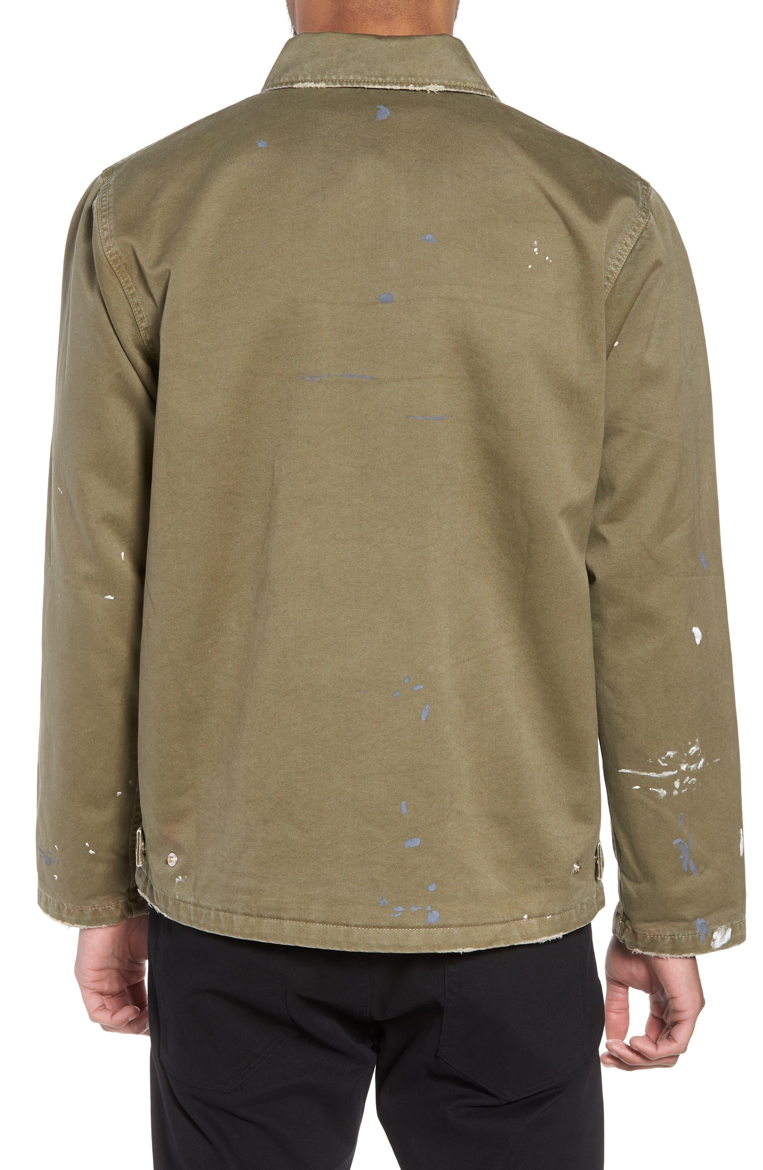 Hudson Military Jacket,                             Alternate thumbnail 2, color,                             Army Paint