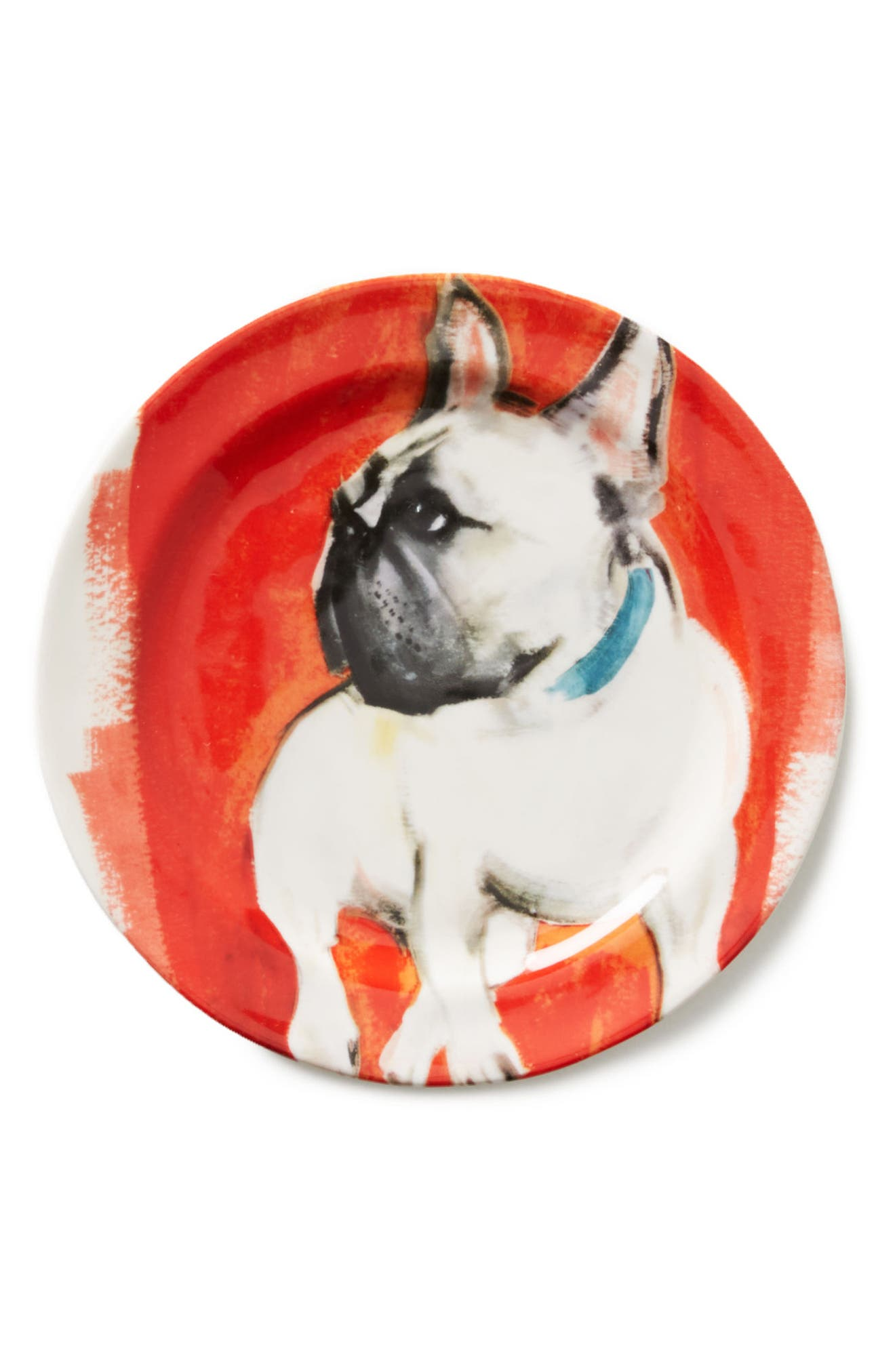 Dog-a-Day Stoneware Dessert Plate,                             Alternate thumbnail 2, color,                             Frenchie