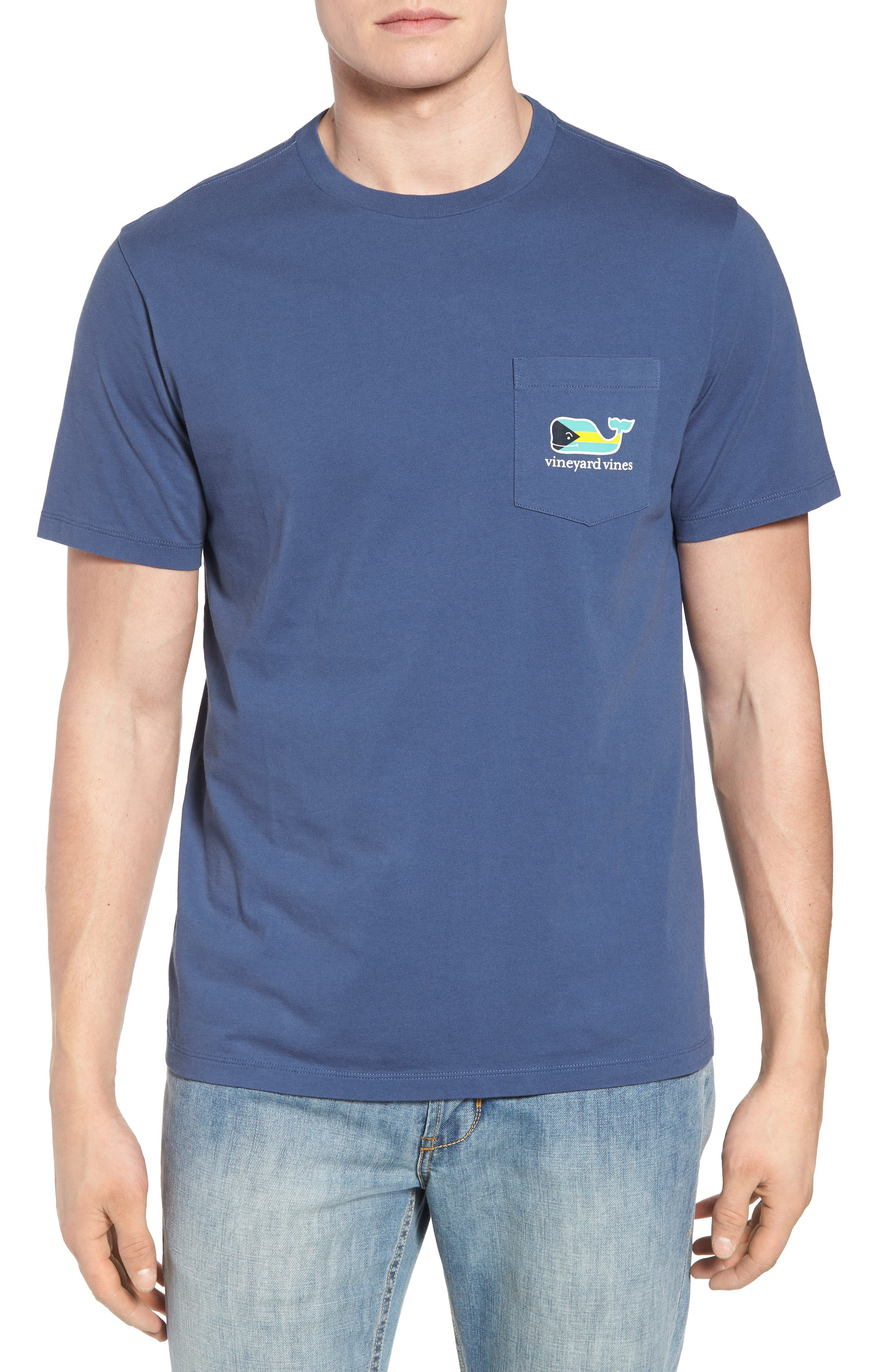 Main Image - vineyard vines Bahamas Whale Crewneck Cotton T-Shirt