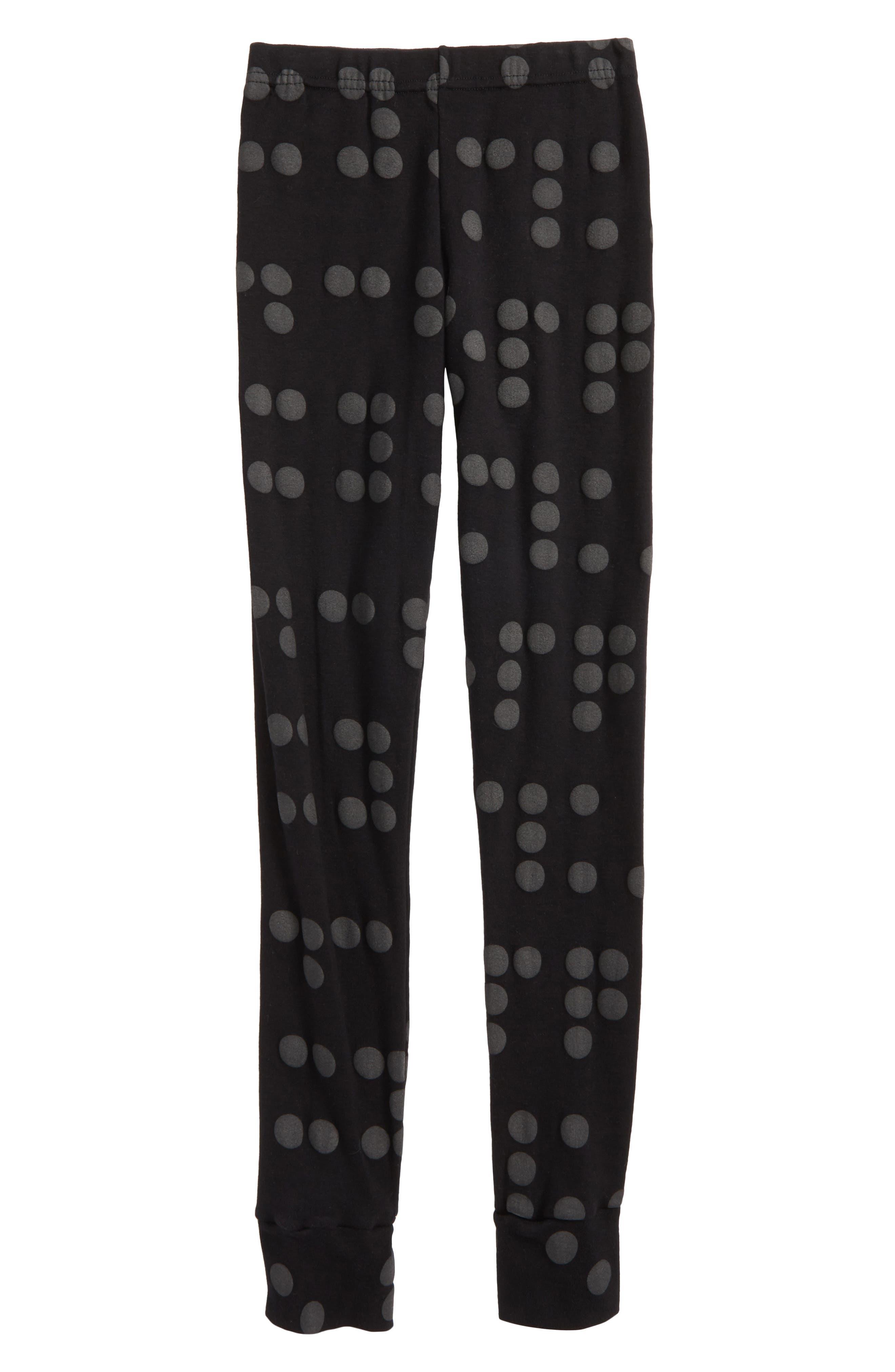 Alternate Image 1 Selected - Nununu Braille Dot Leggings (Toddler Girls, Little Girls & Big Girls)