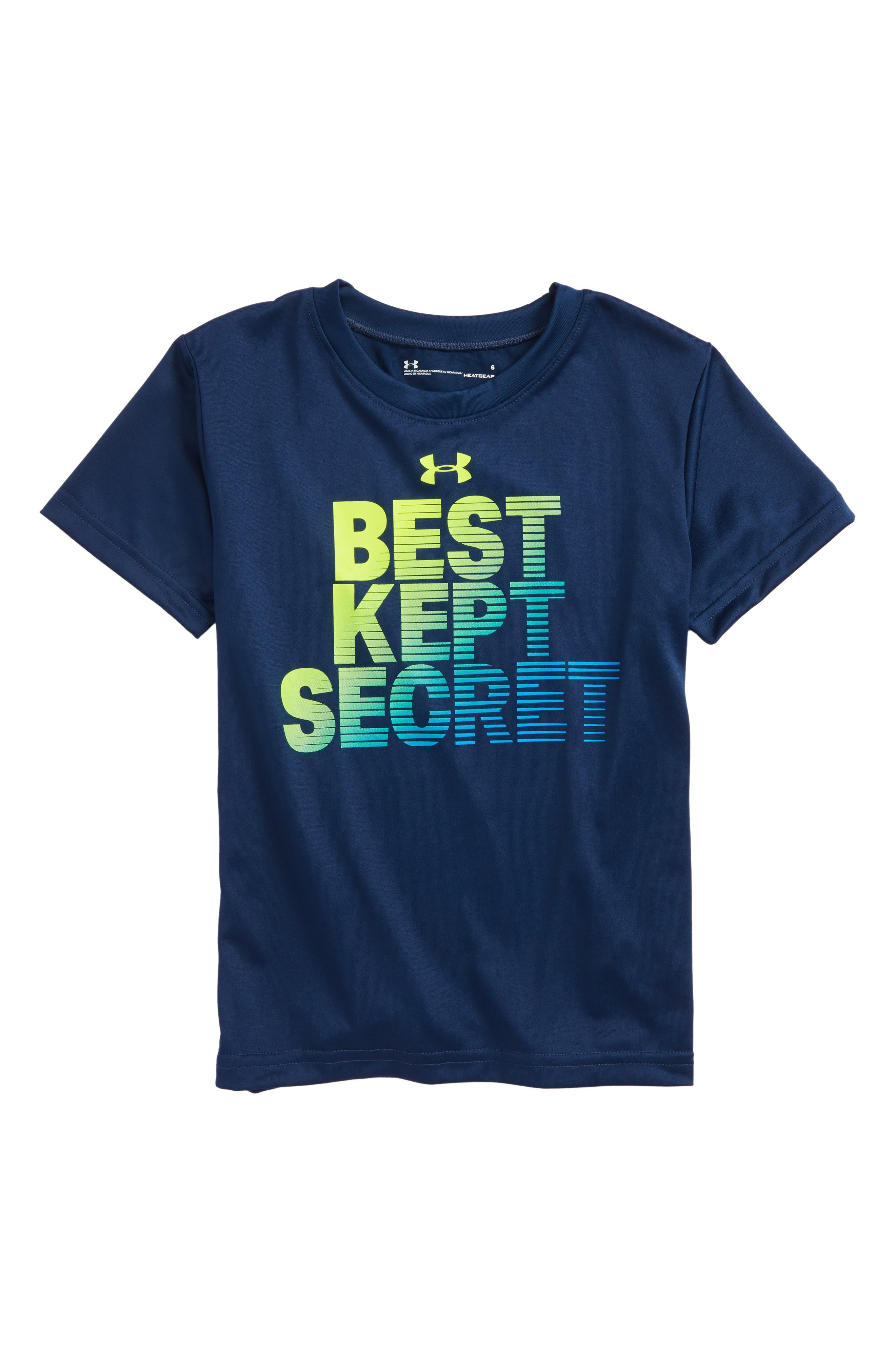 Best Kept Secret HeatGear<sup>®</sup> T-Shirt,                             Main thumbnail 1, color,                             Academy