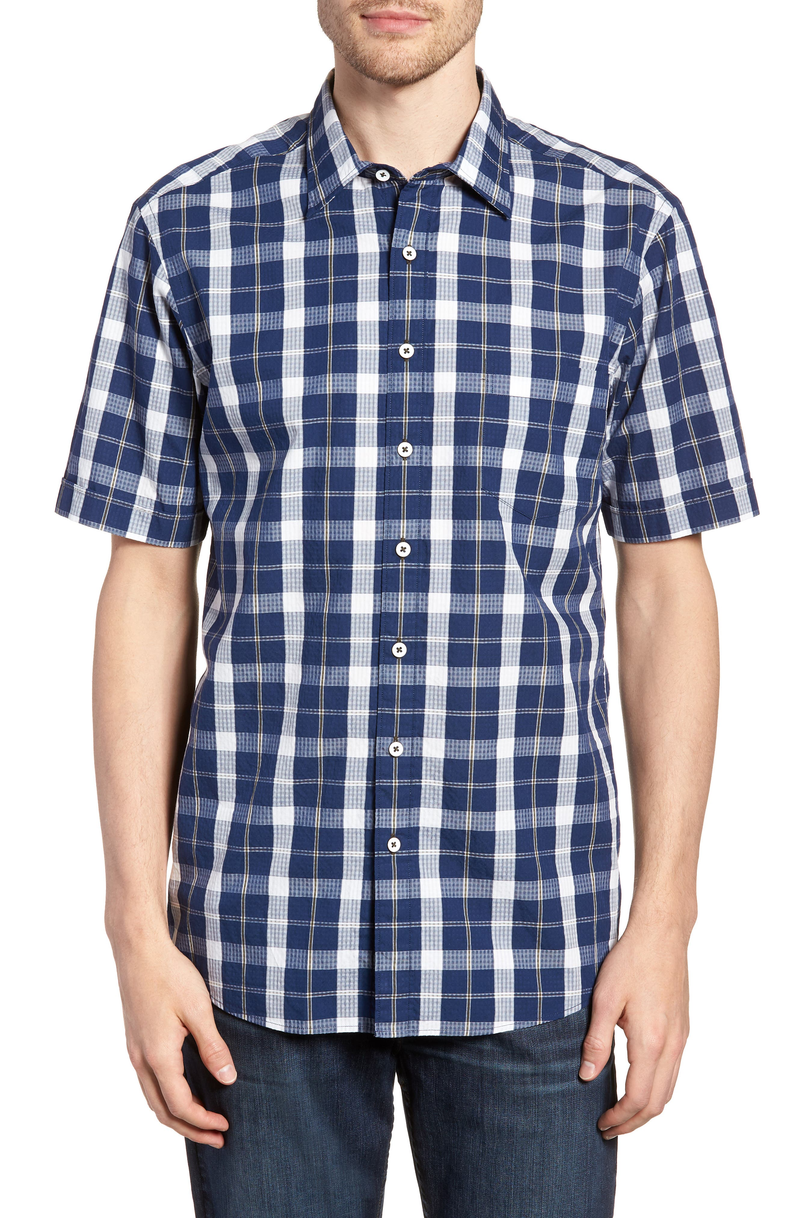 Bradford Regular Fit Sport Shirt,                             Main thumbnail 1, color,                             Navy