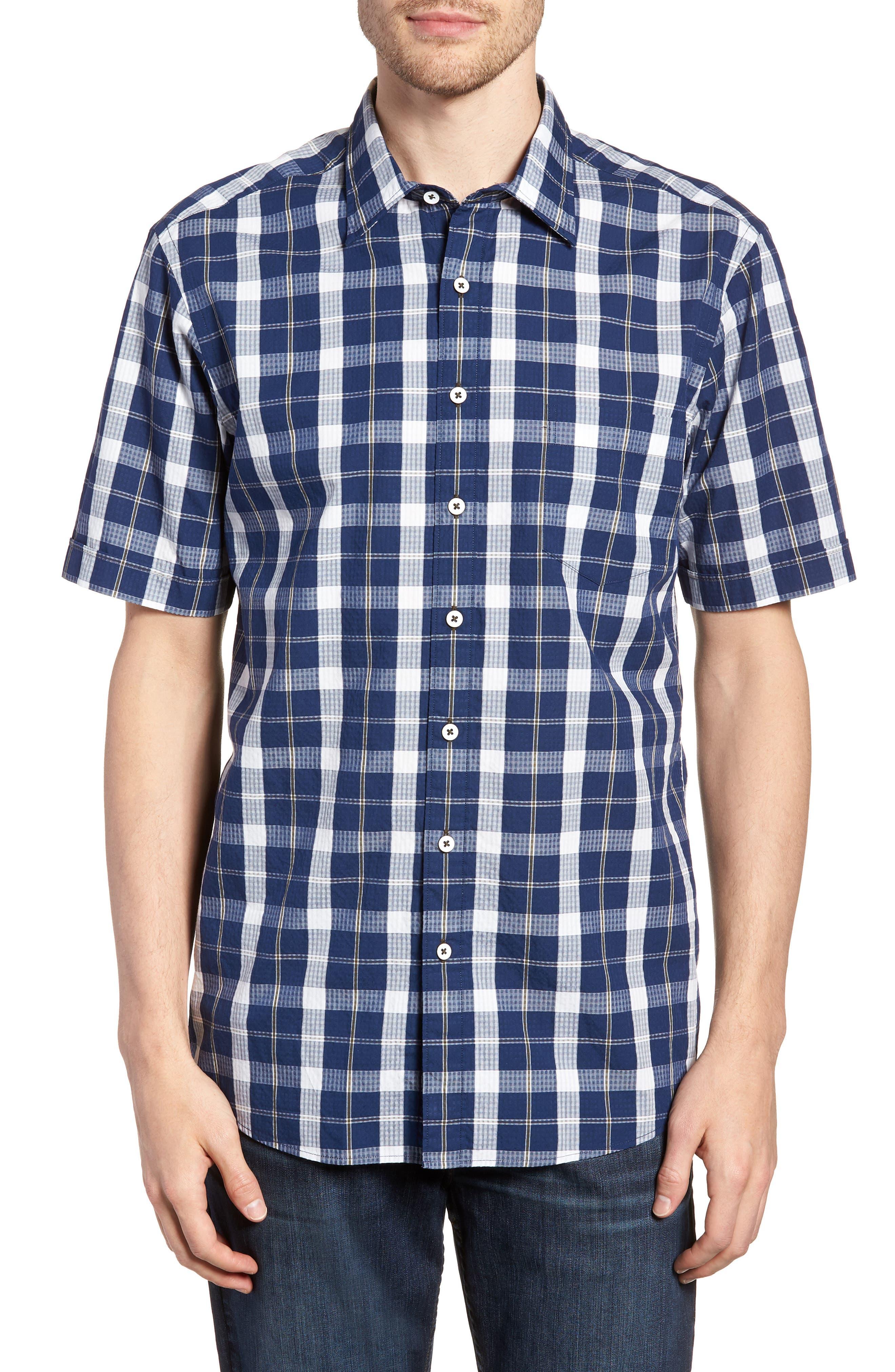 Bradford Regular Fit Sport Shirt,                         Main,                         color, Navy