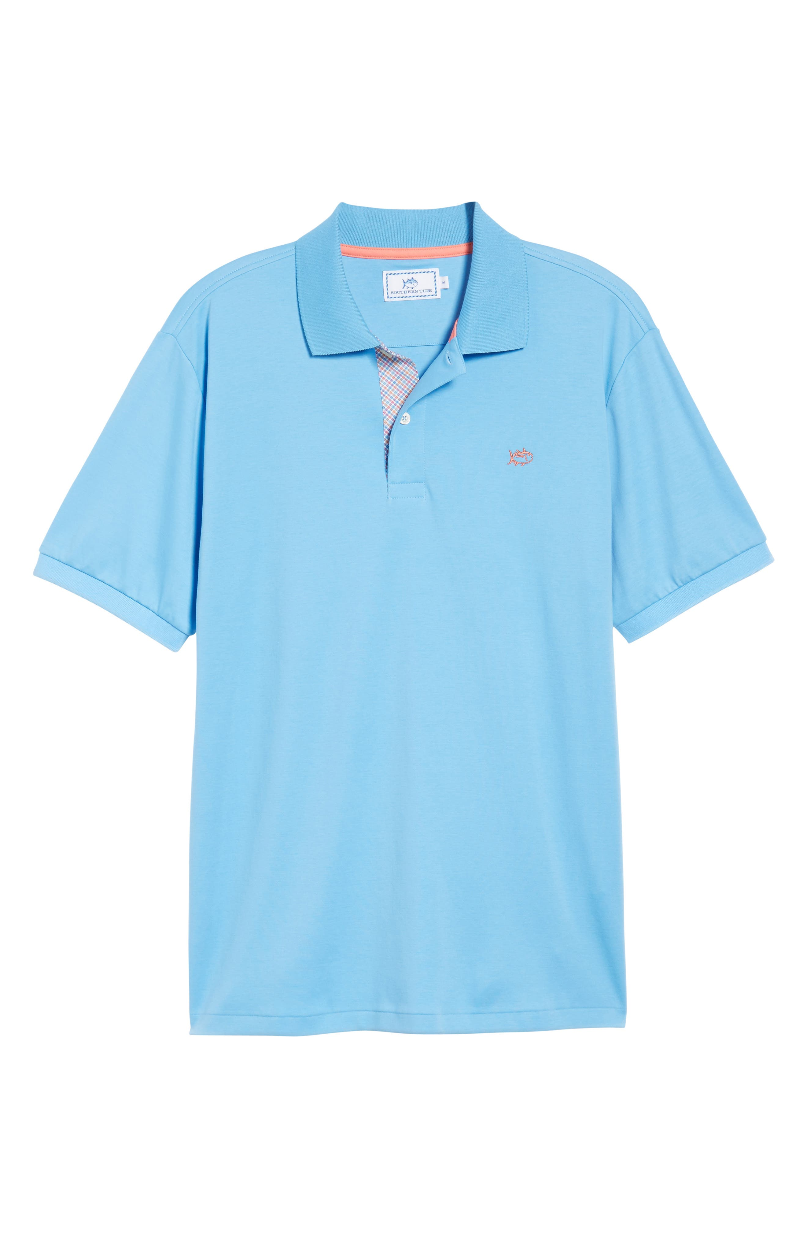 Sugar Mill Jersey Polo,                             Alternate thumbnail 6, color,                             Ocean Channel
