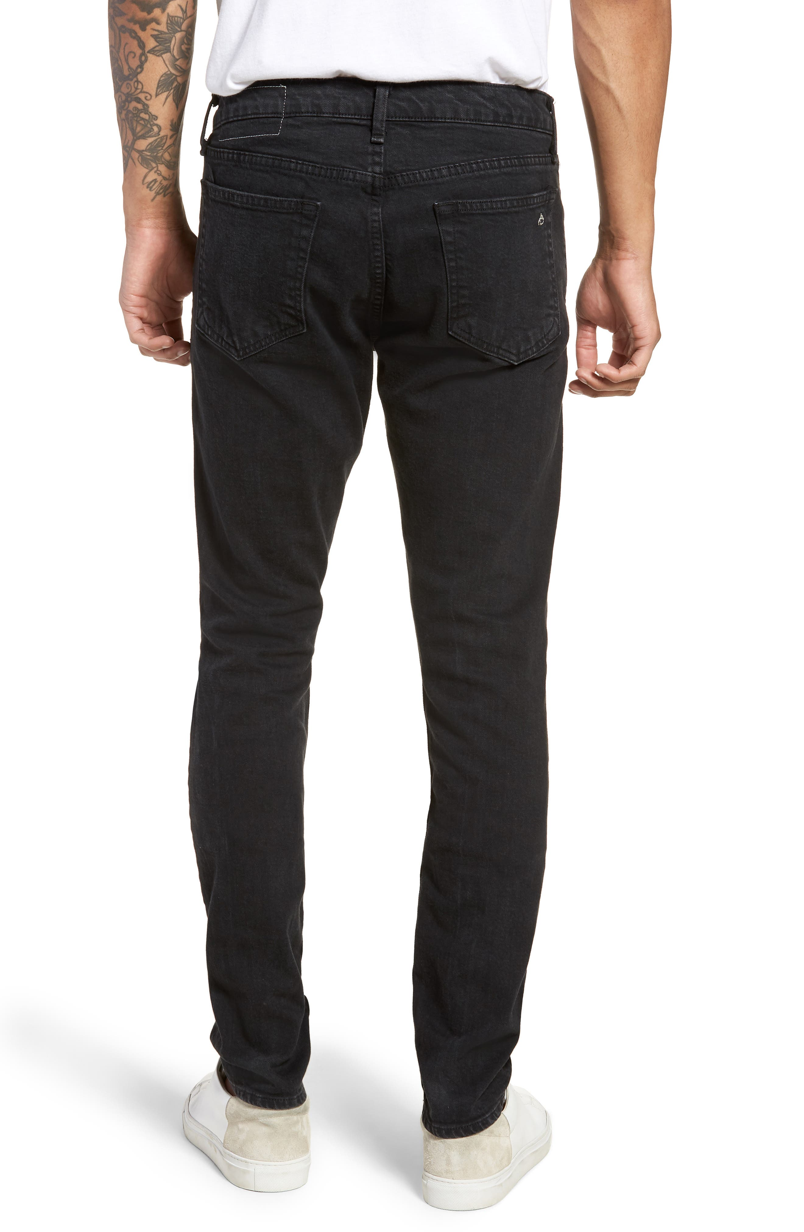 Fit 1 Skinny Fit Jeans,                             Alternate thumbnail 2, color,                             Shelter W/ Holes