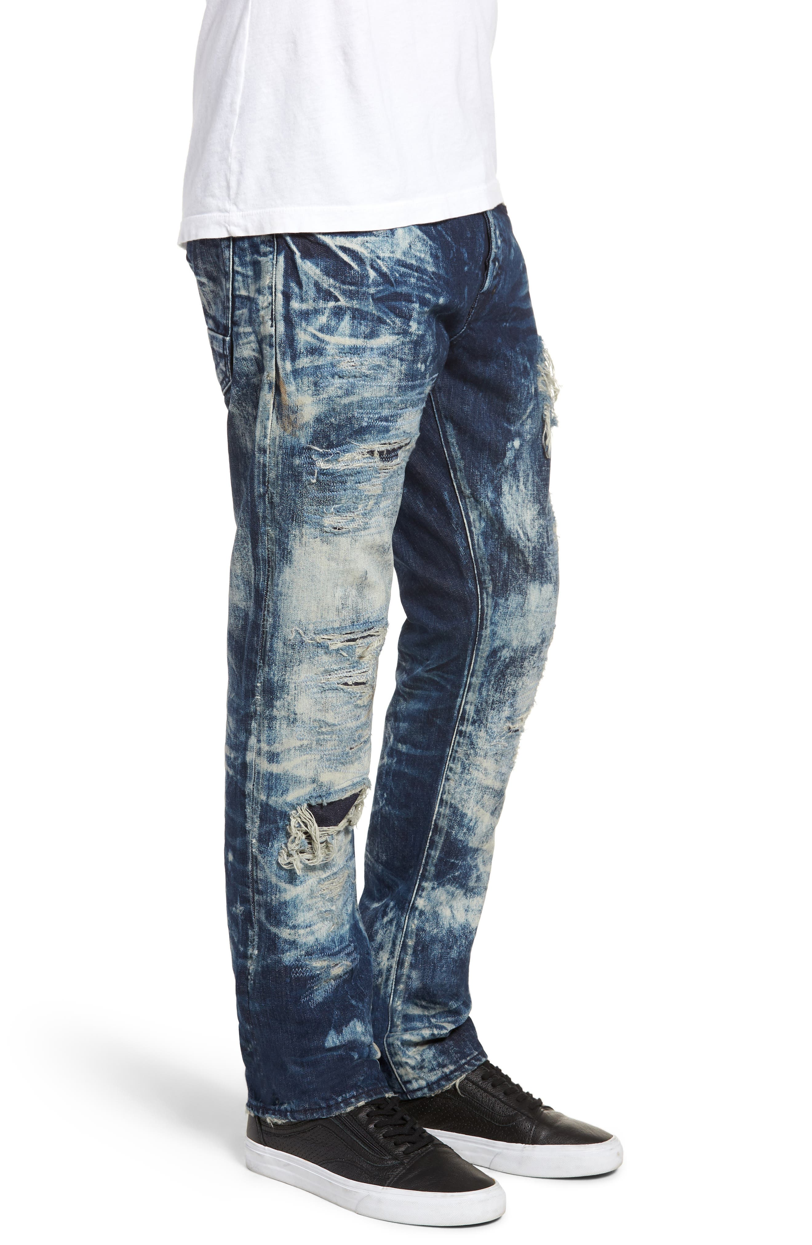 Le Sabre Slim Fit Jeans,                             Alternate thumbnail 3, color,                             Consolation