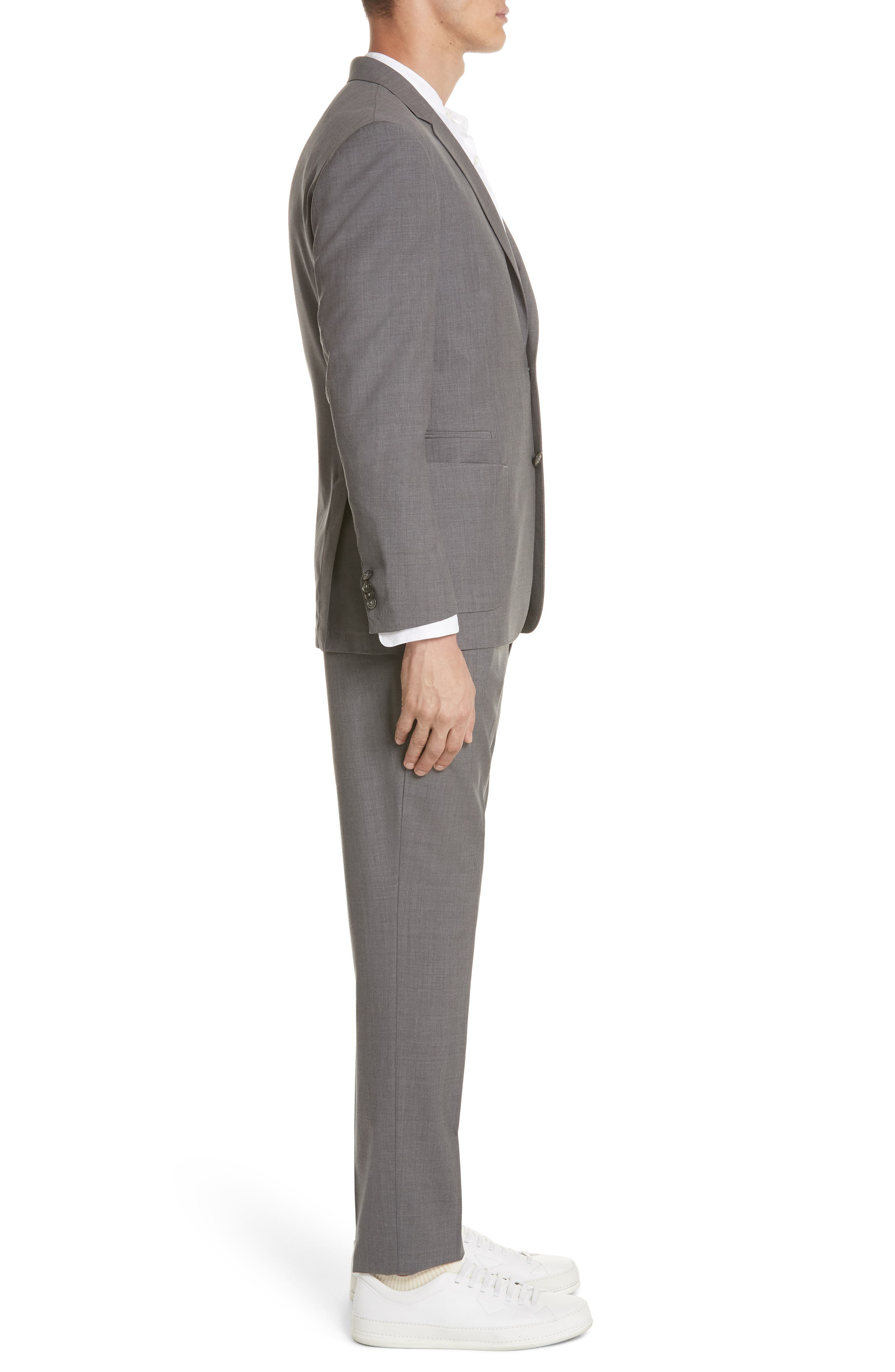 TECHMERINO<sup>™</sup> Wash & Go Trim Fit Solid Wool Suit,                             Alternate thumbnail 3, color,                             Solid Grey