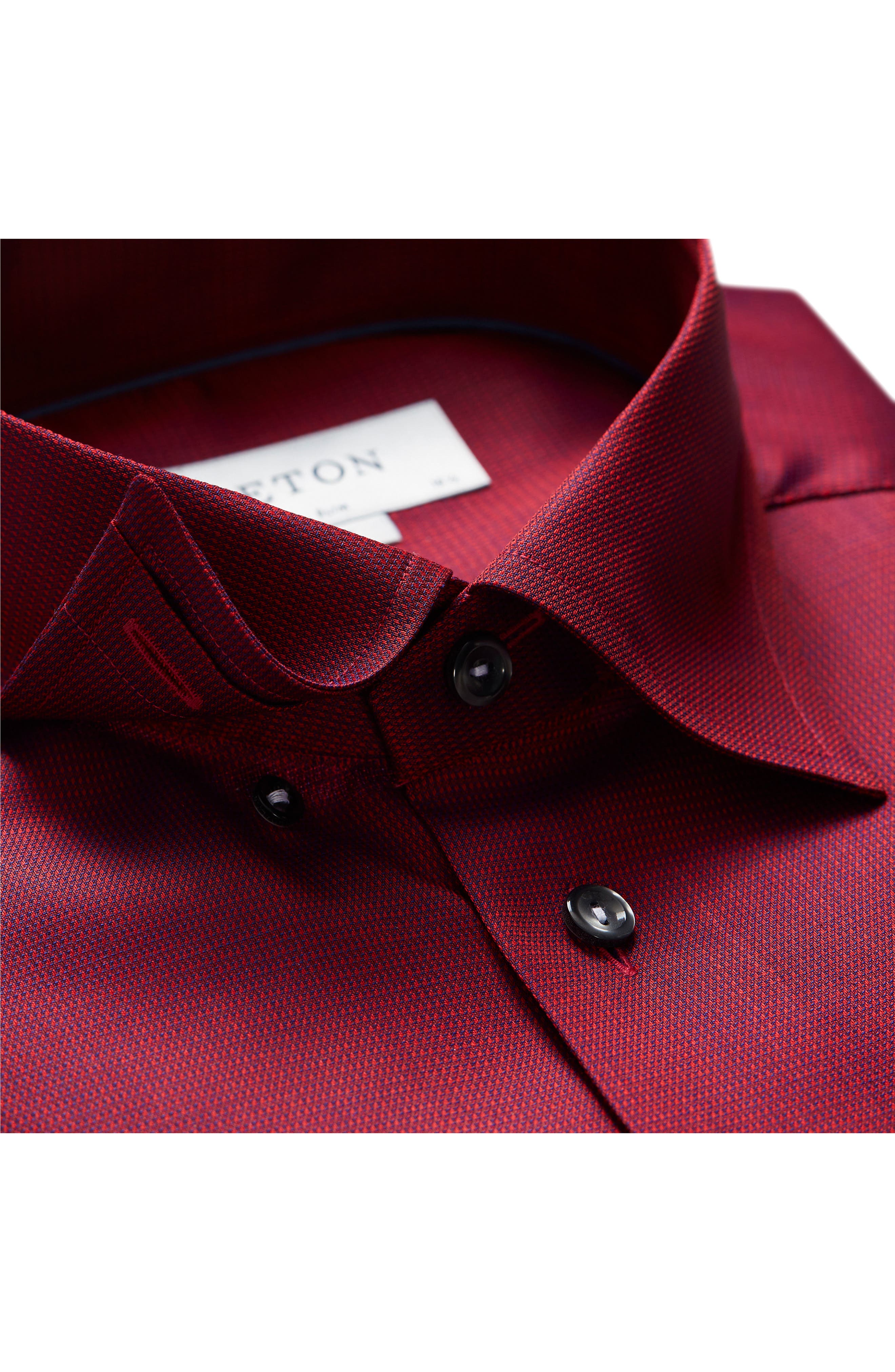 Slim Fit Solid Dress Shirt,                             Alternate thumbnail 2, color,                             Red