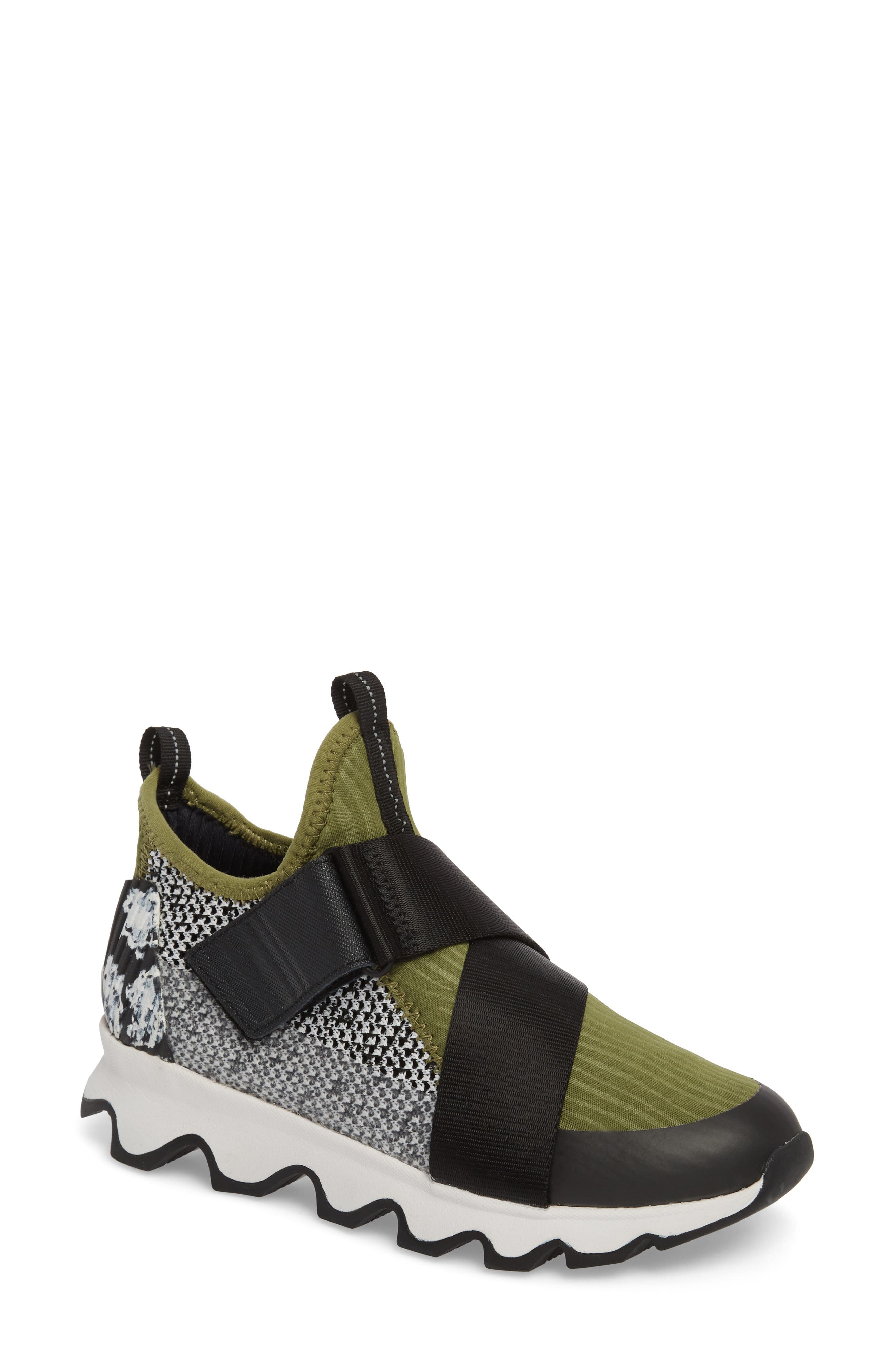 Kinetic Sneak High Top Sneaker,                             Main thumbnail 1, color,                             Olive Drab/ White