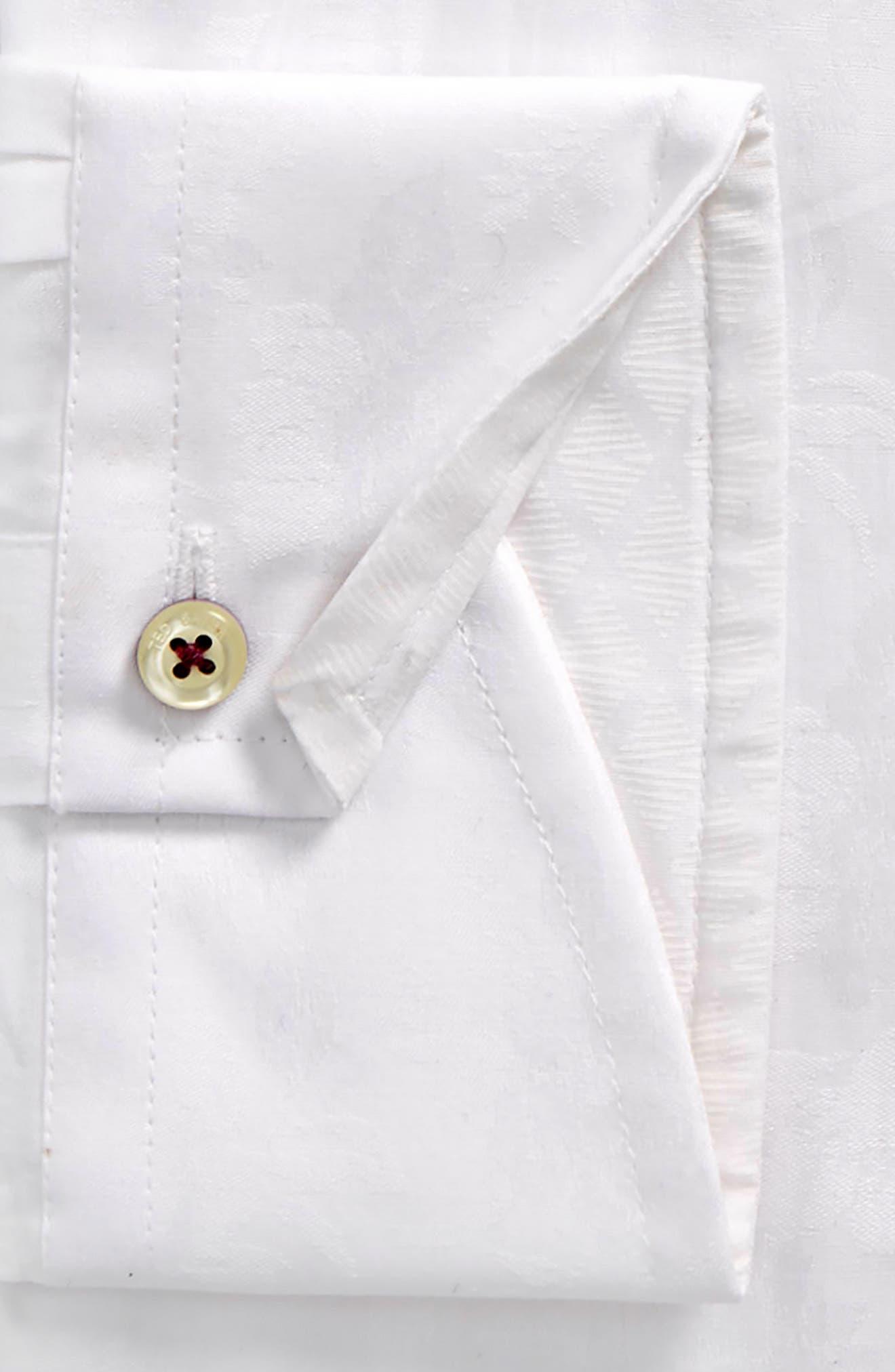 Pampa Trim Fit Floral Dress Shirt,                             Alternate thumbnail 2, color,                             White