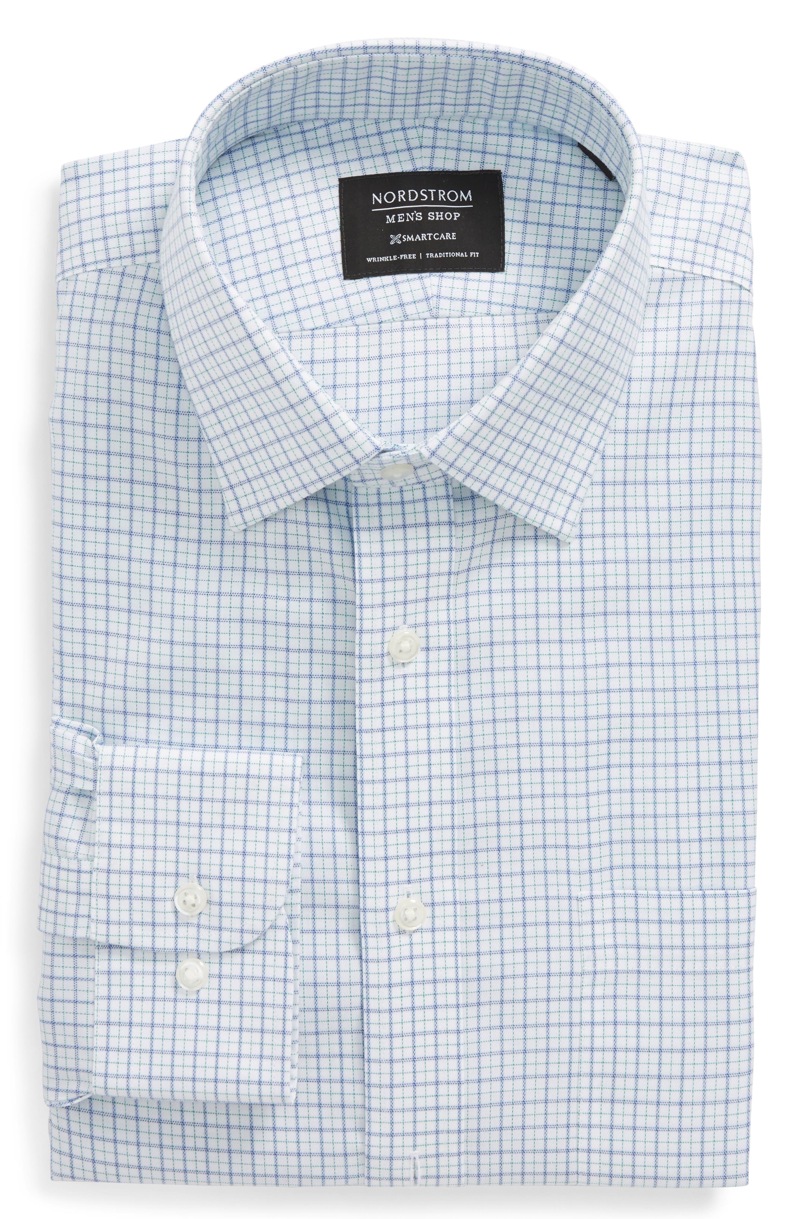 Nordstrom Men's Shop Smartcare™ Traditional Fit Check Dress Shirt