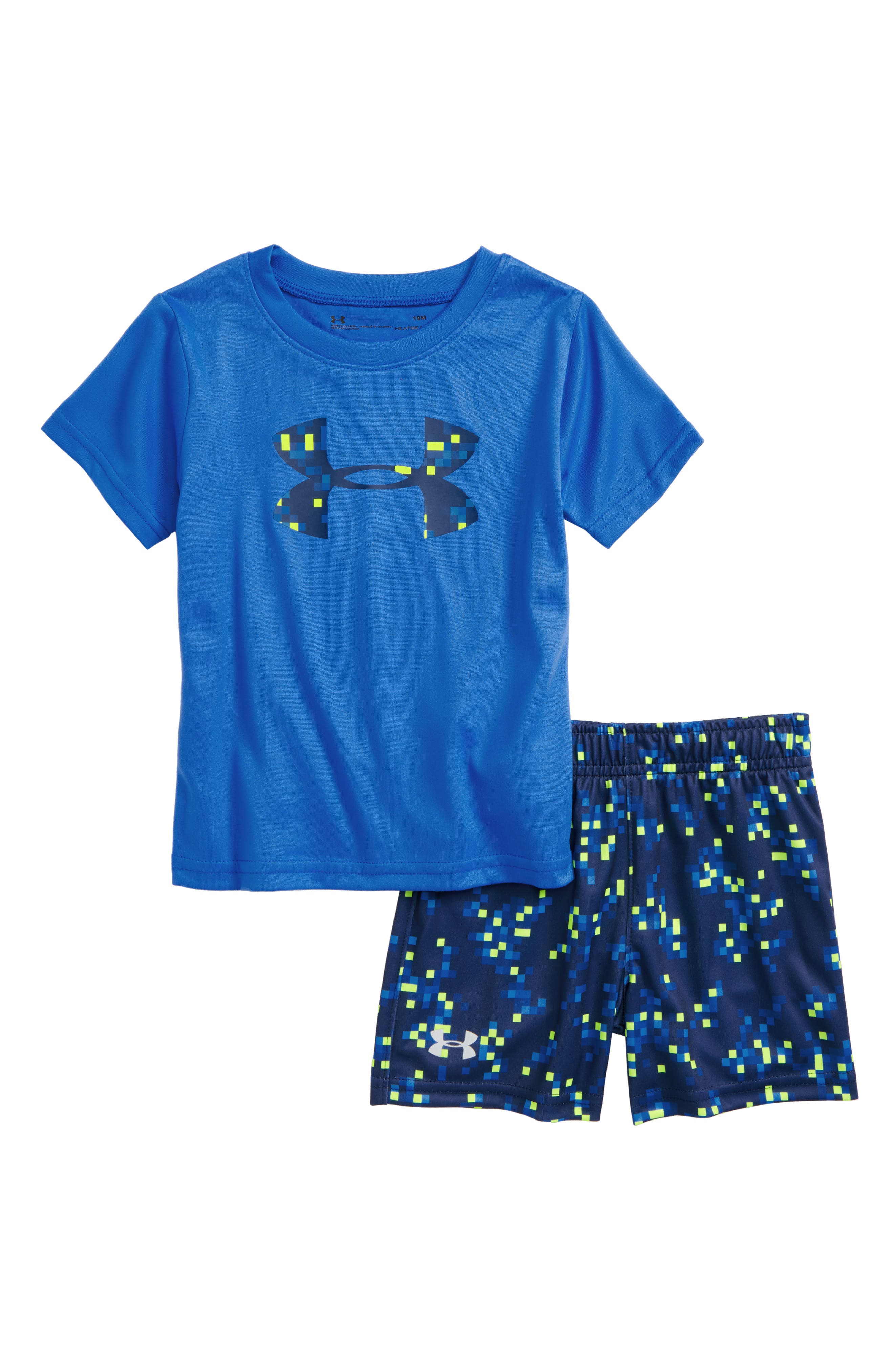 Under Armour Digital Camo Logo HeatGear® T-Shirt & Shorts Set (Baby Boys)