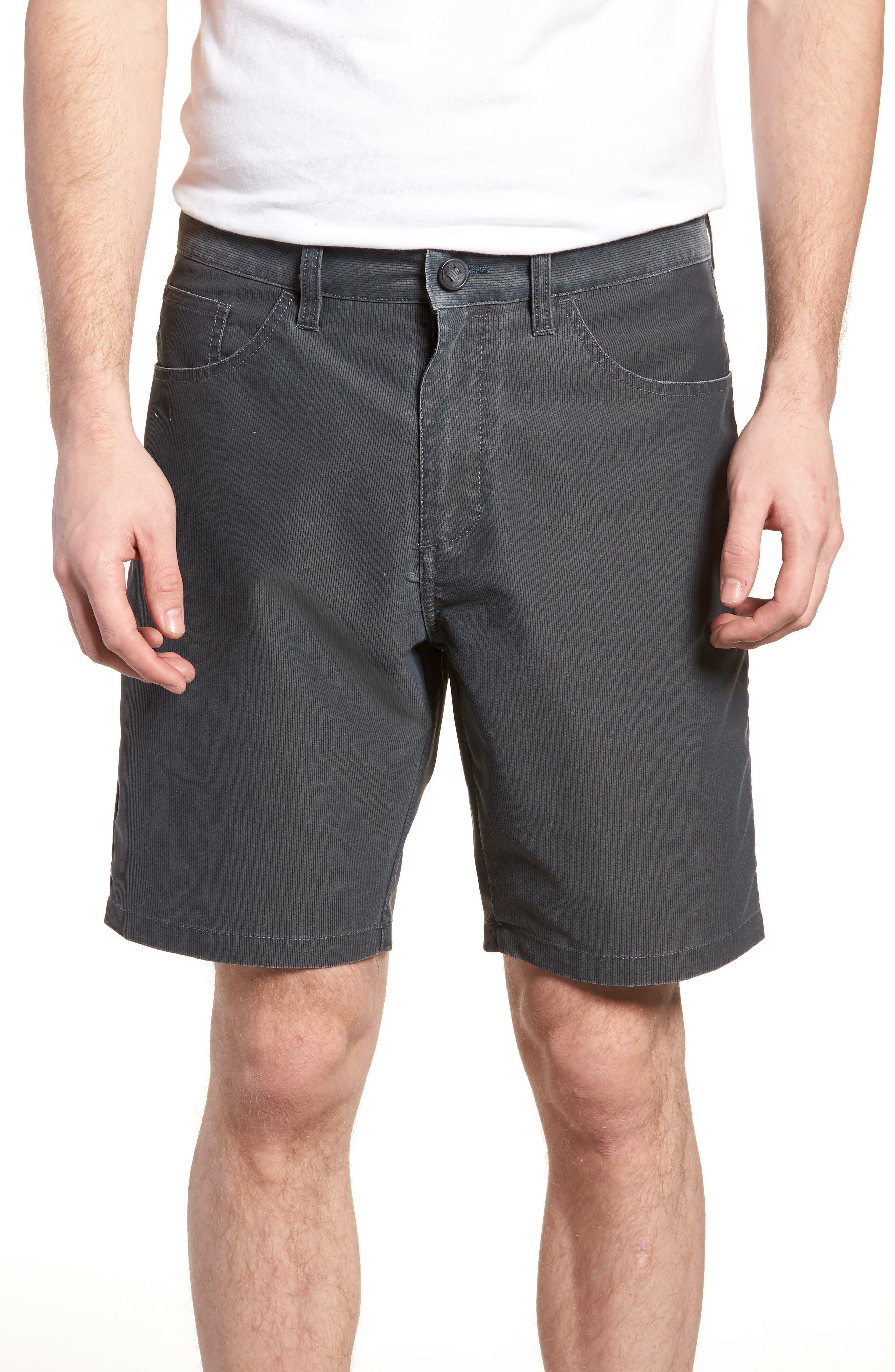 Outsider X Surf Corduroy Shorts,                         Main,                         color, Black