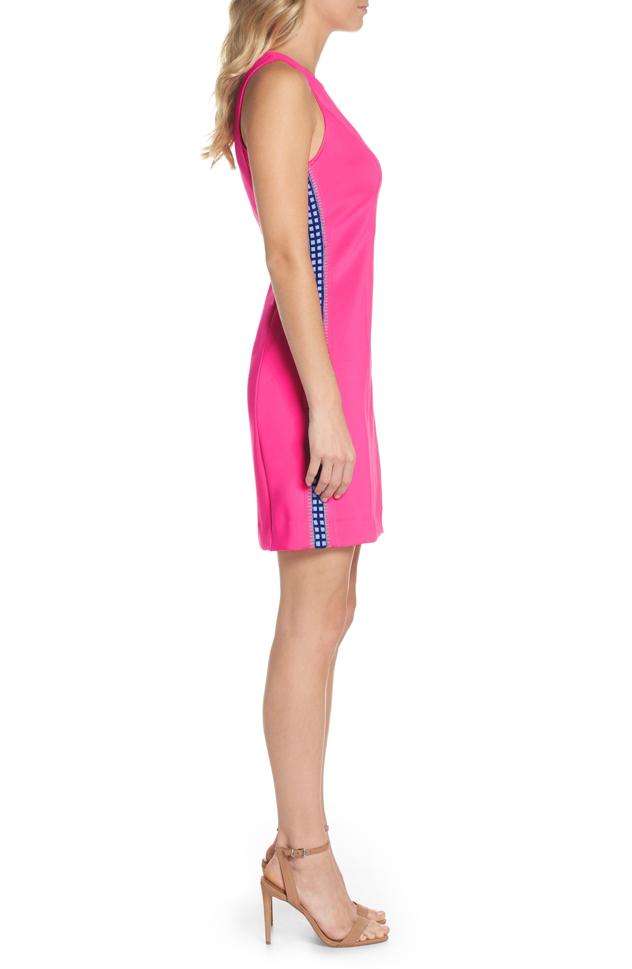 Mila Sheath Dress,                             Alternate thumbnail 3, color,                             Raz Berry