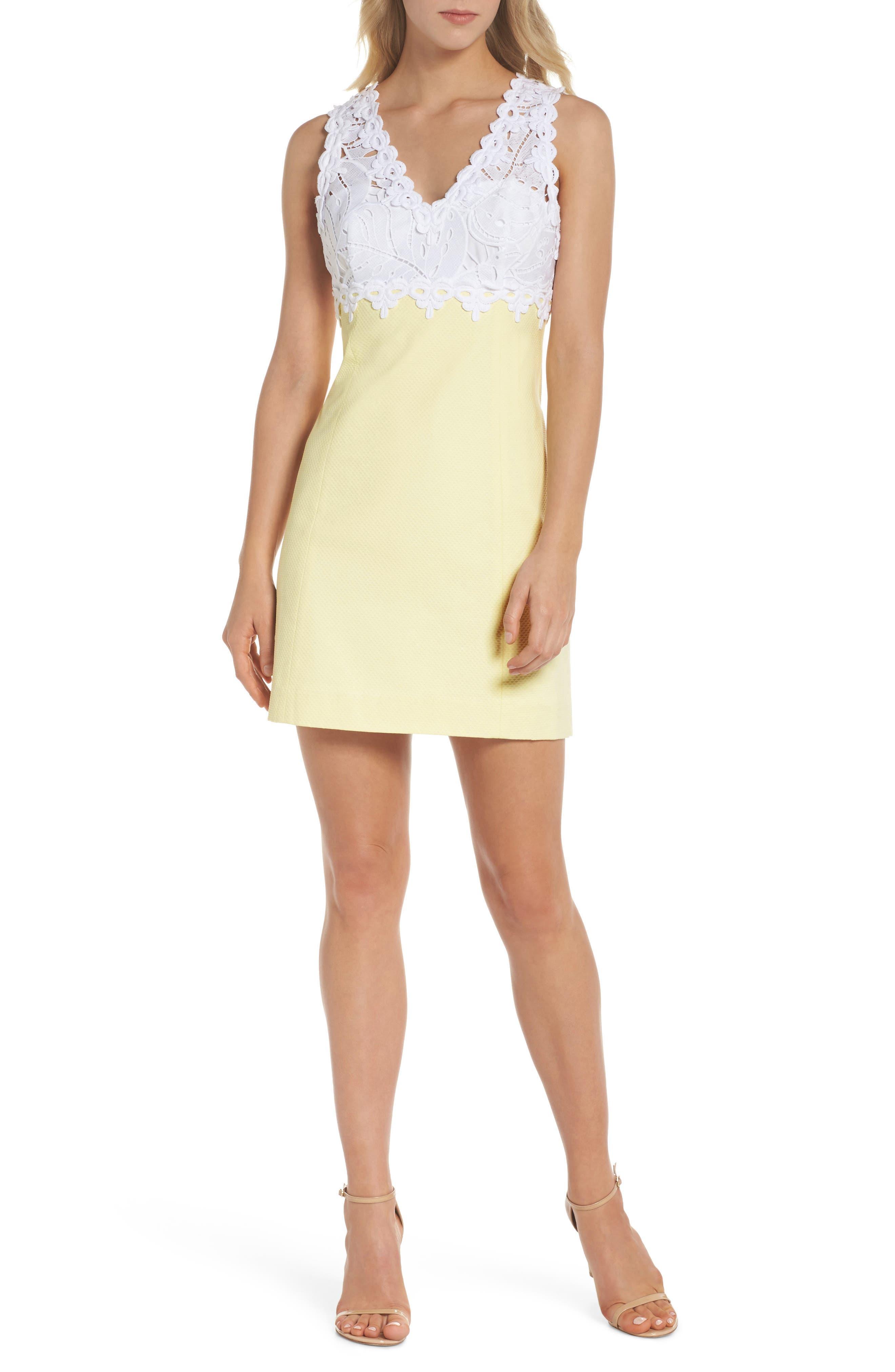 Sandi Stretch Minidress,                         Main,                         color, Pineapple