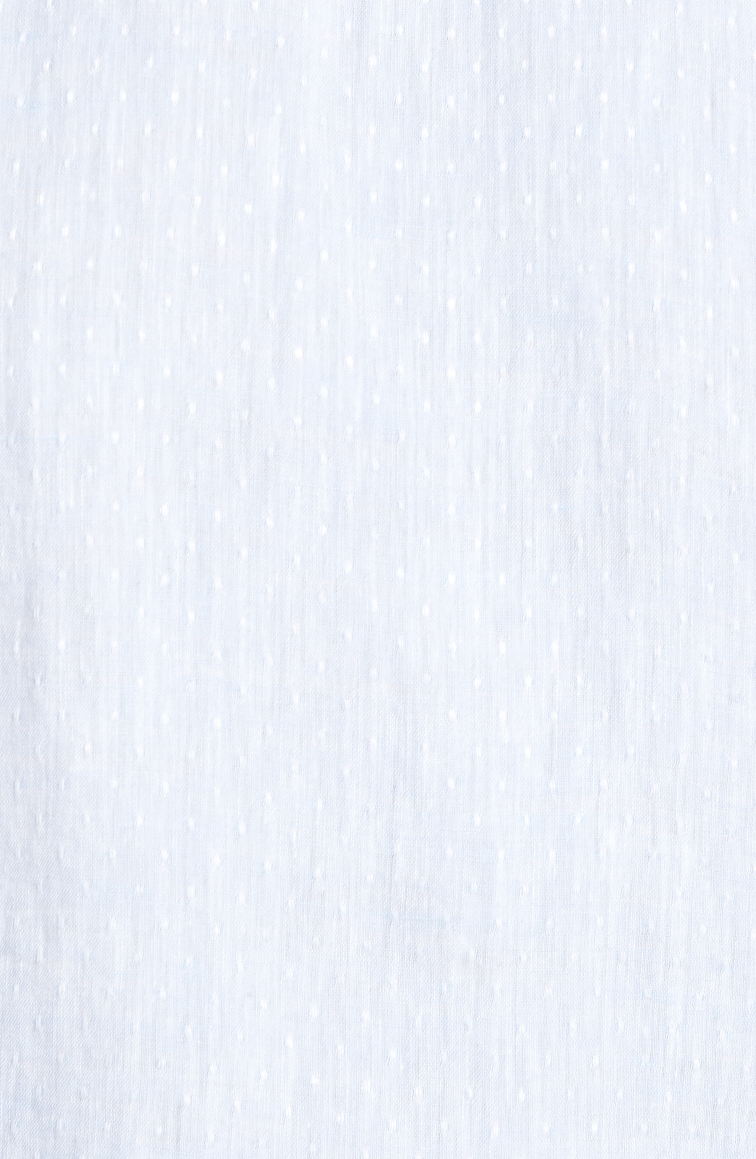 Ronni Slim Fit Dobby Linen Sport Shirt,                             Alternate thumbnail 5, color,                             Blue