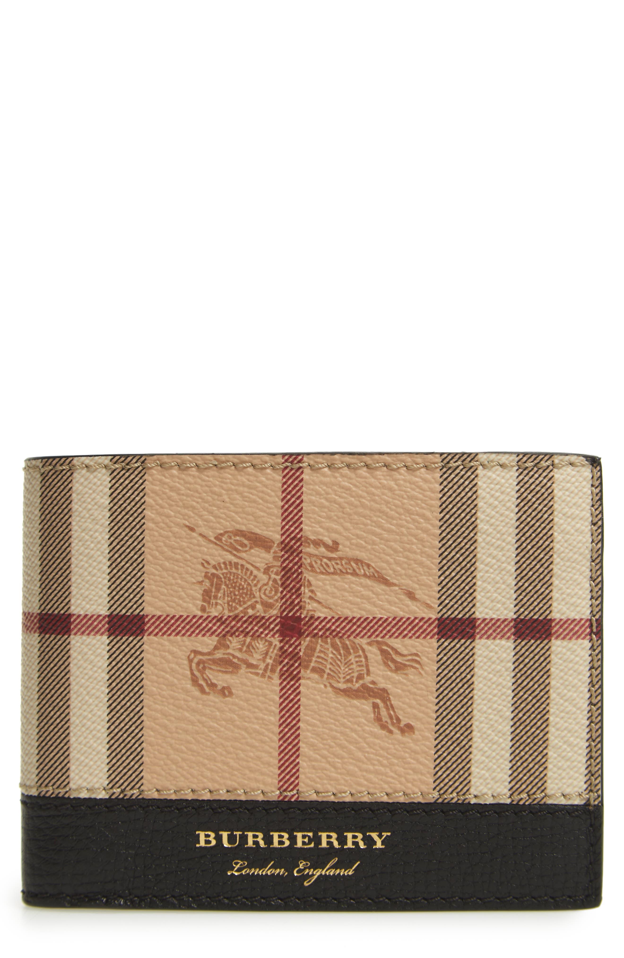 Burberry Haymarket Bifold Wallet