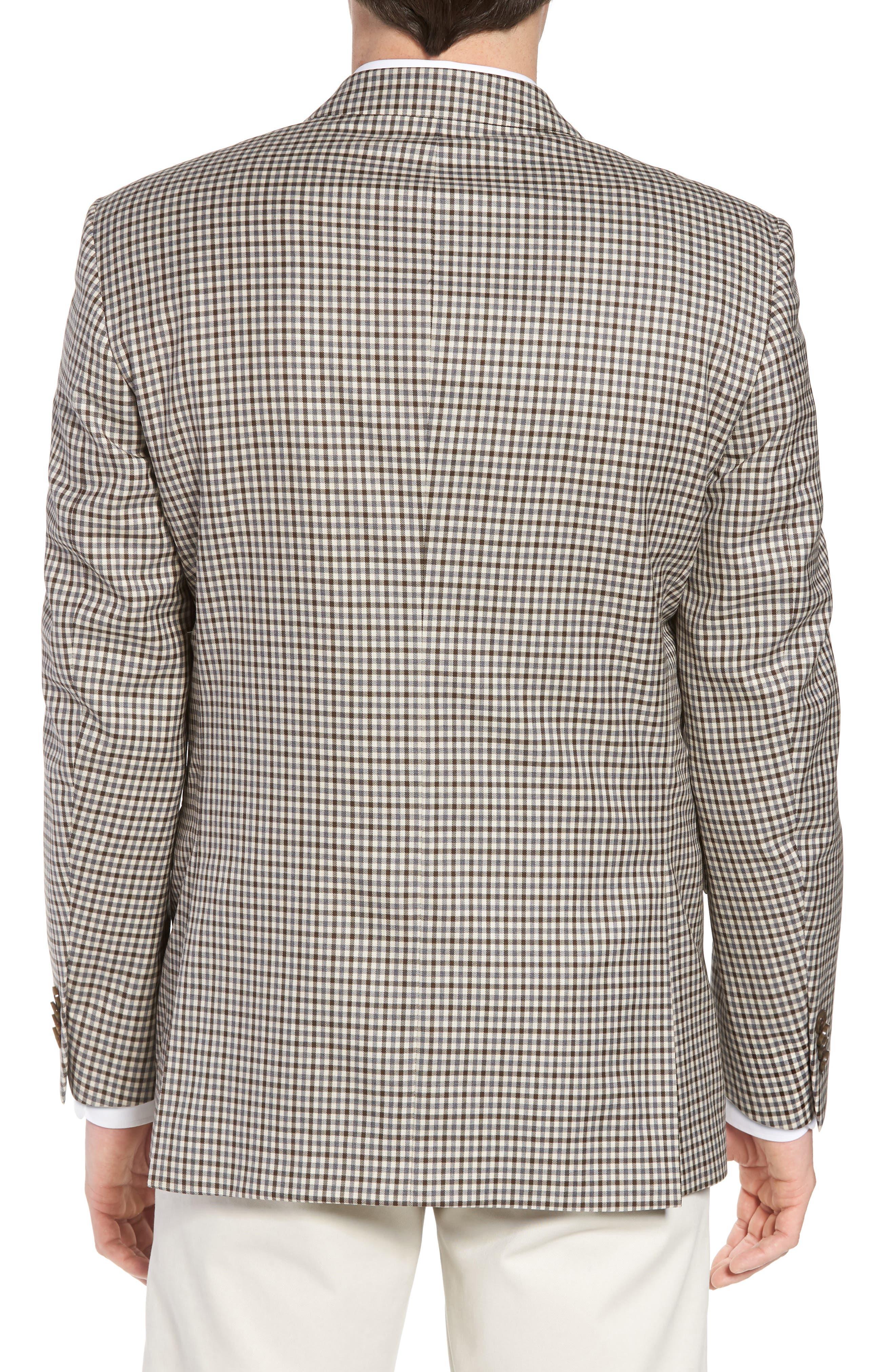 Classic Fit Check Wool Sport Coat,                             Alternate thumbnail 2, color,                             Tan/Grey