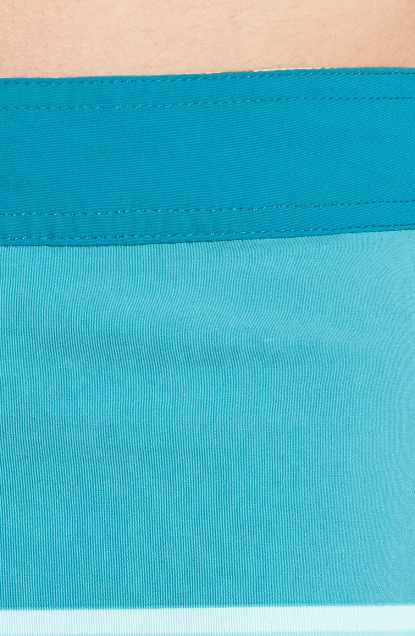 Wavefarer Board Shorts,                             Alternate thumbnail 4, color,                             Batik Hex Stripe Bend Blue