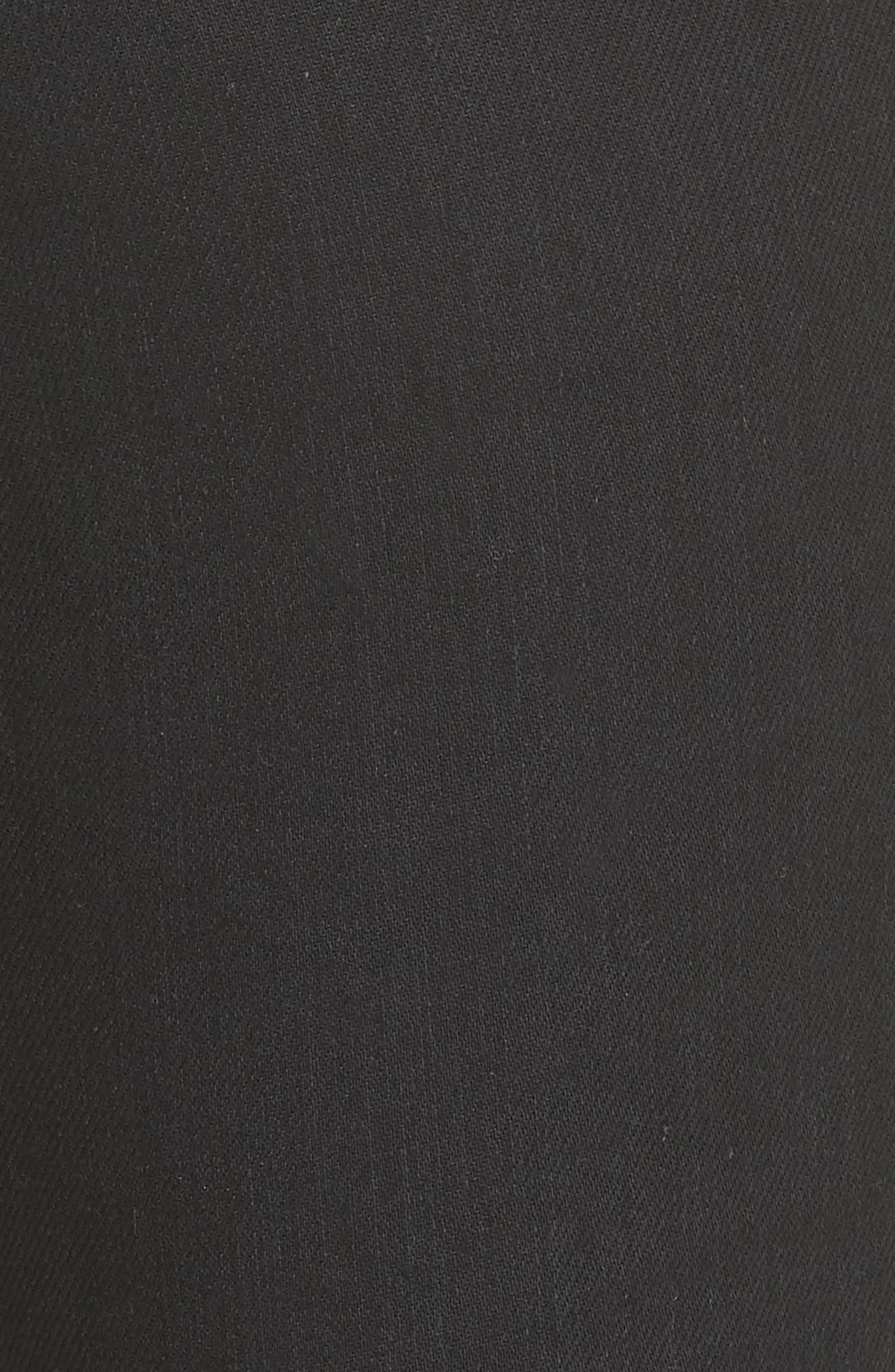 Coated Skinny Jeans,                             Alternate thumbnail 5, color,                             Used Black