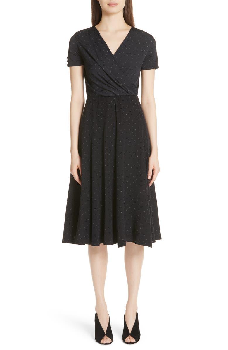 Sandalo Polka Dot Silk Dress
