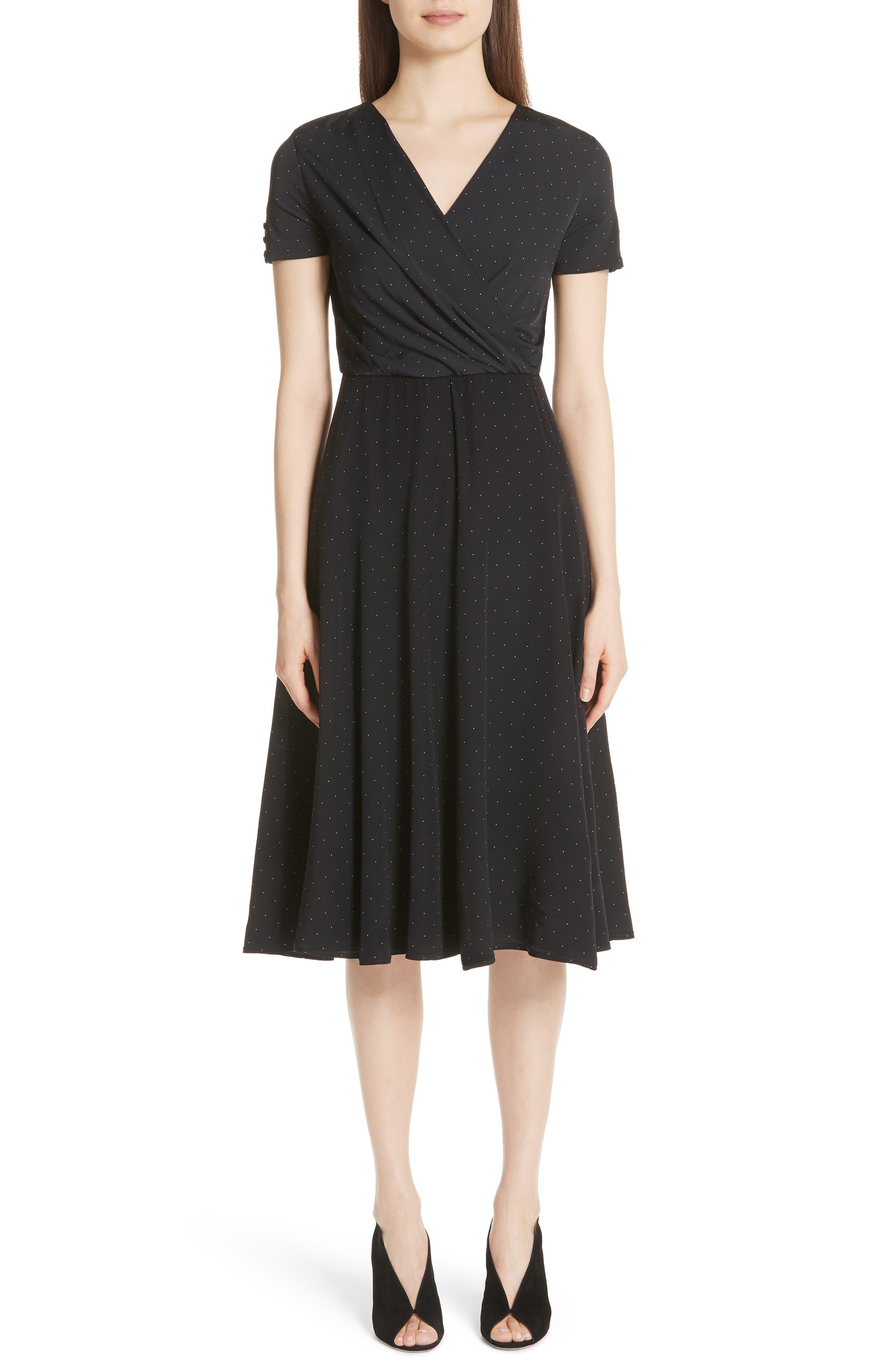 Max Mara Sandalo Polka Dot Silk Dress
