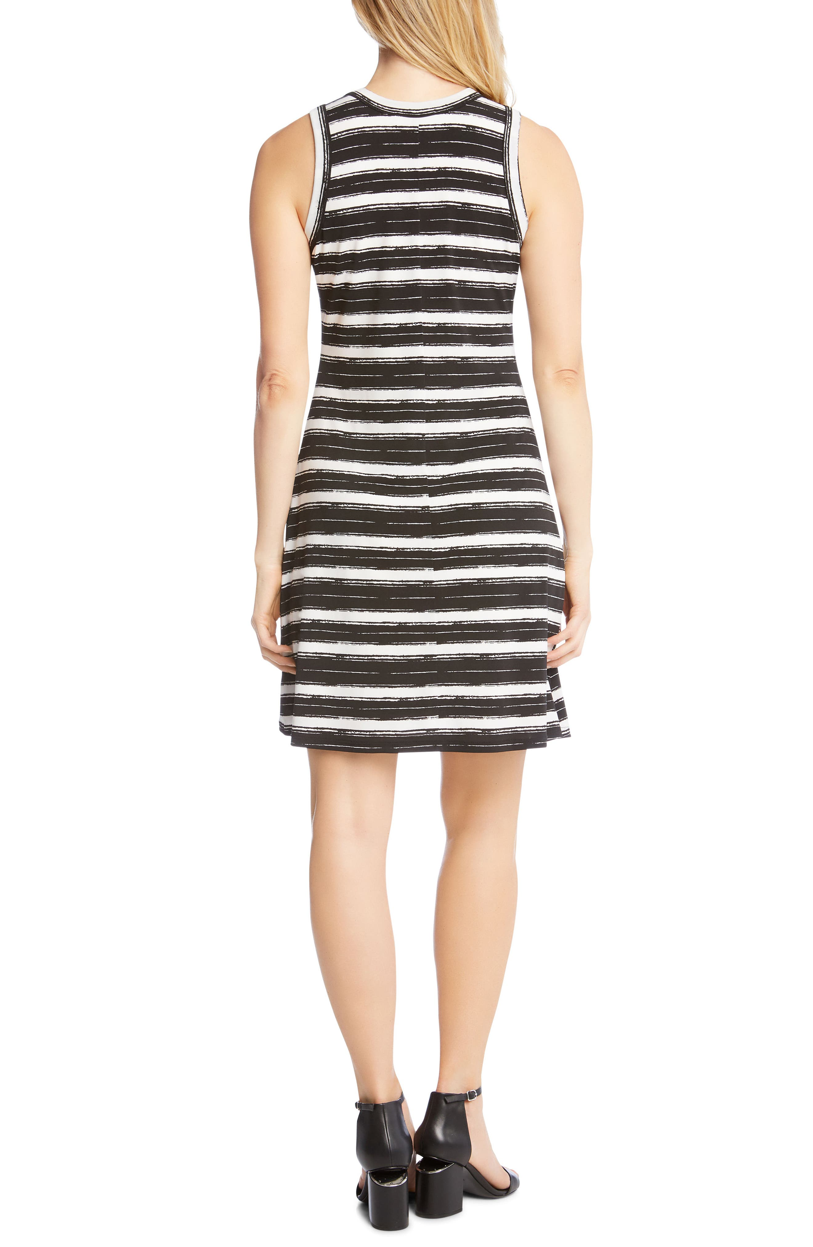 Stripe Fit and Flare Dress,                             Alternate thumbnail 2, color,                             Stripe
