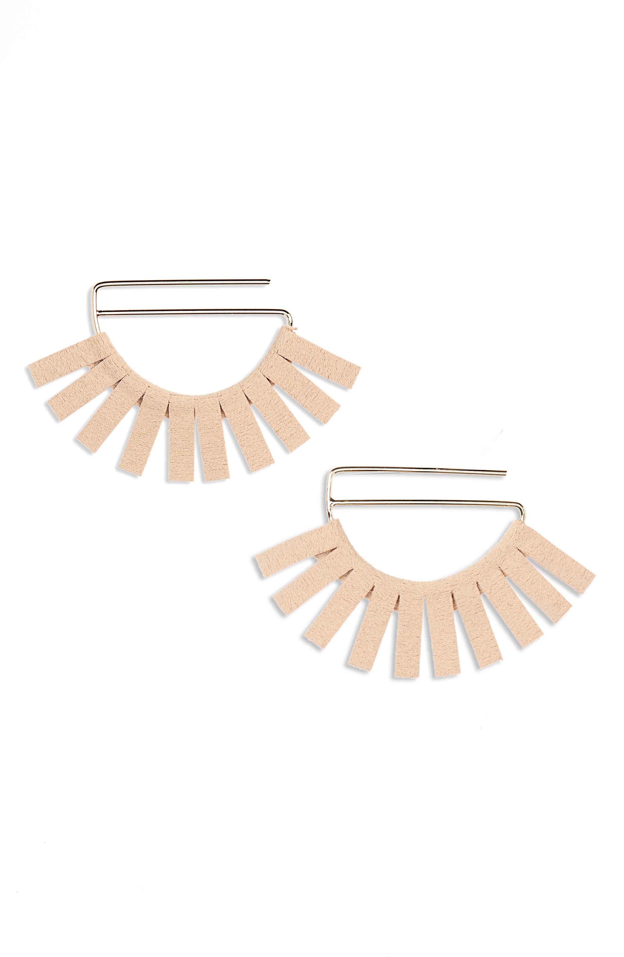 Panacea Suede Detail Earrings