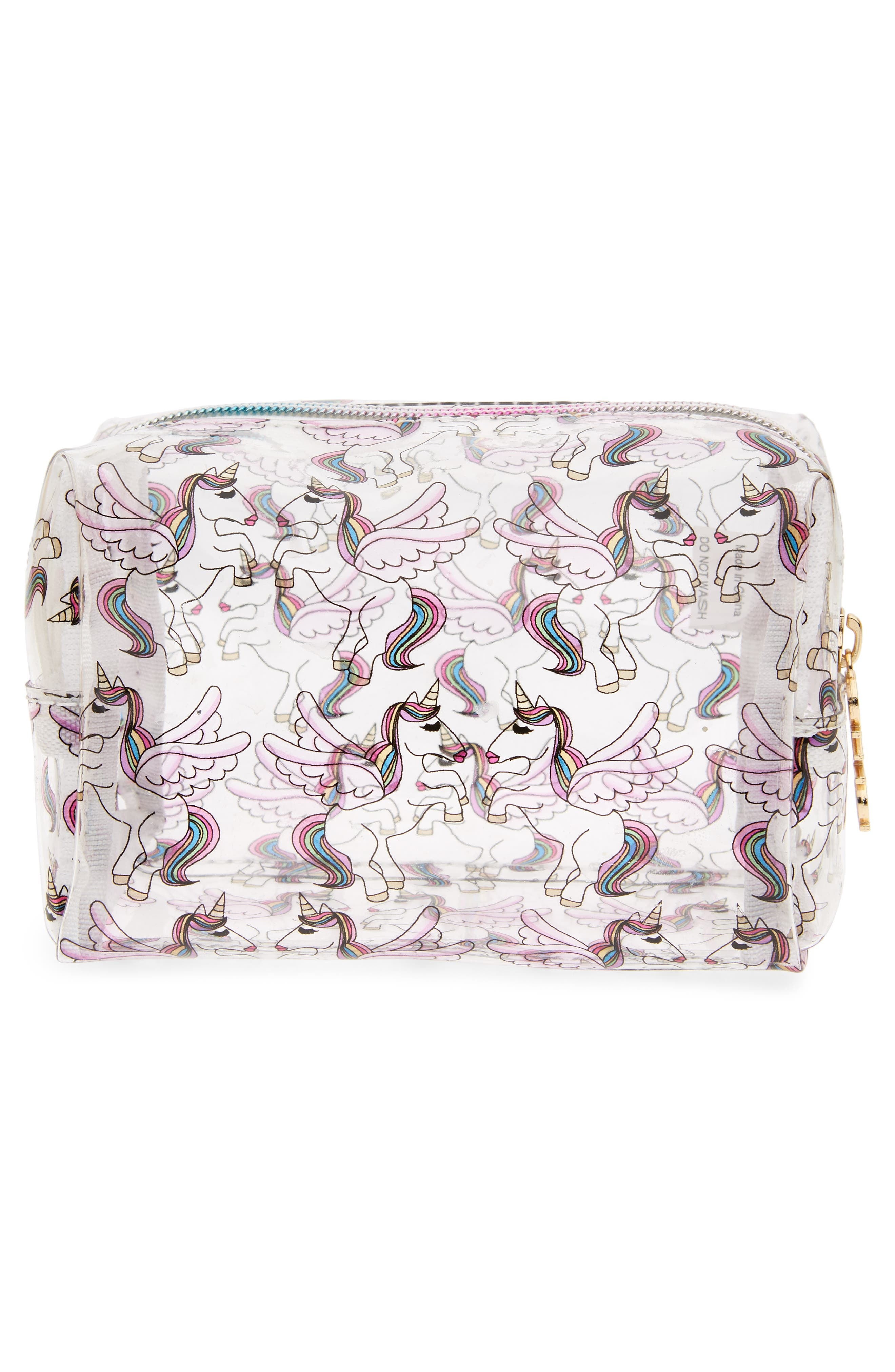 Unicorn Cosmetics Case,                             Alternate thumbnail 2, color,                             Multi