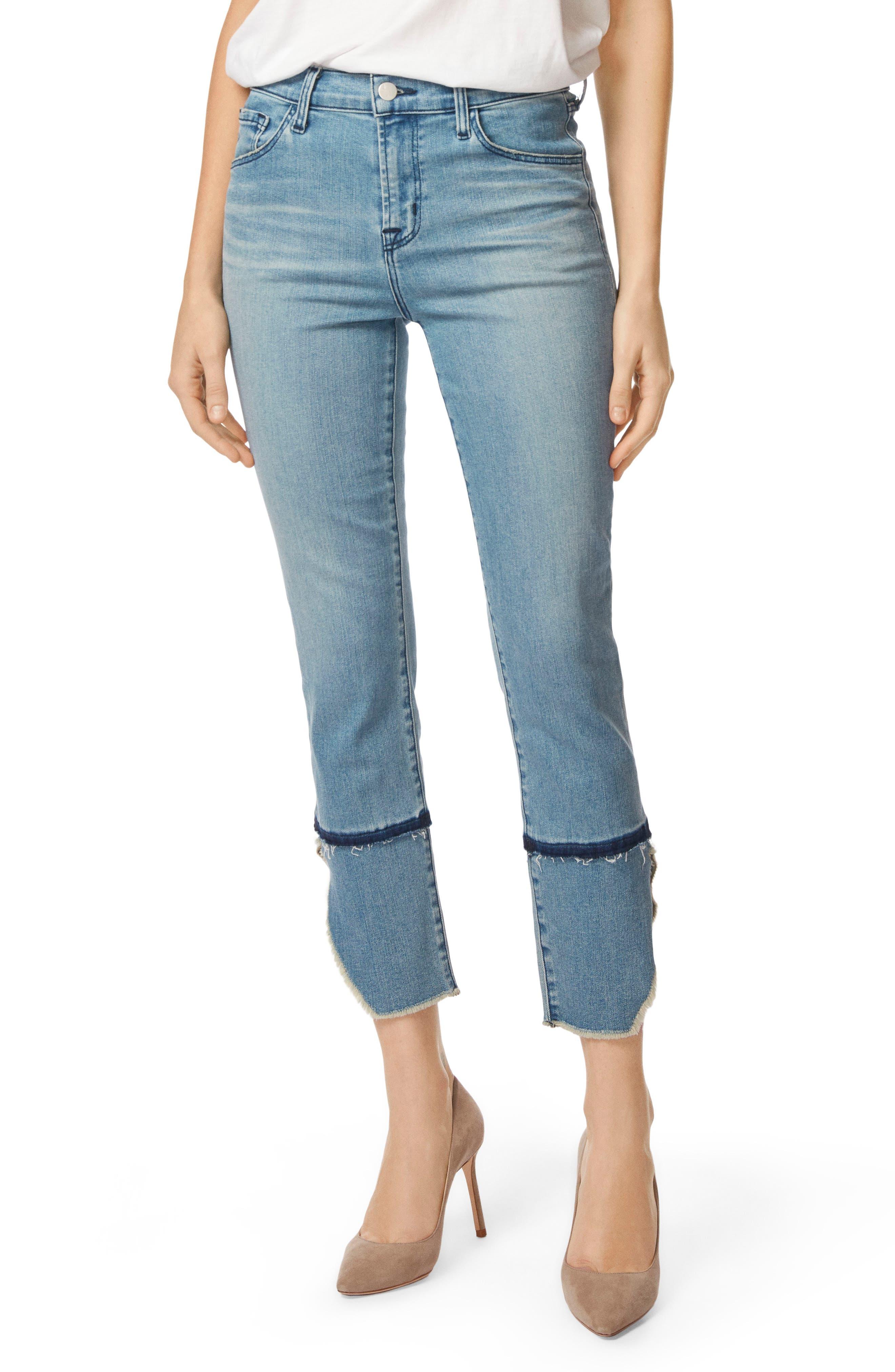 Ruby High Waist Crop Cigarette Jeans,                             Main thumbnail 1, color,                             Patriot