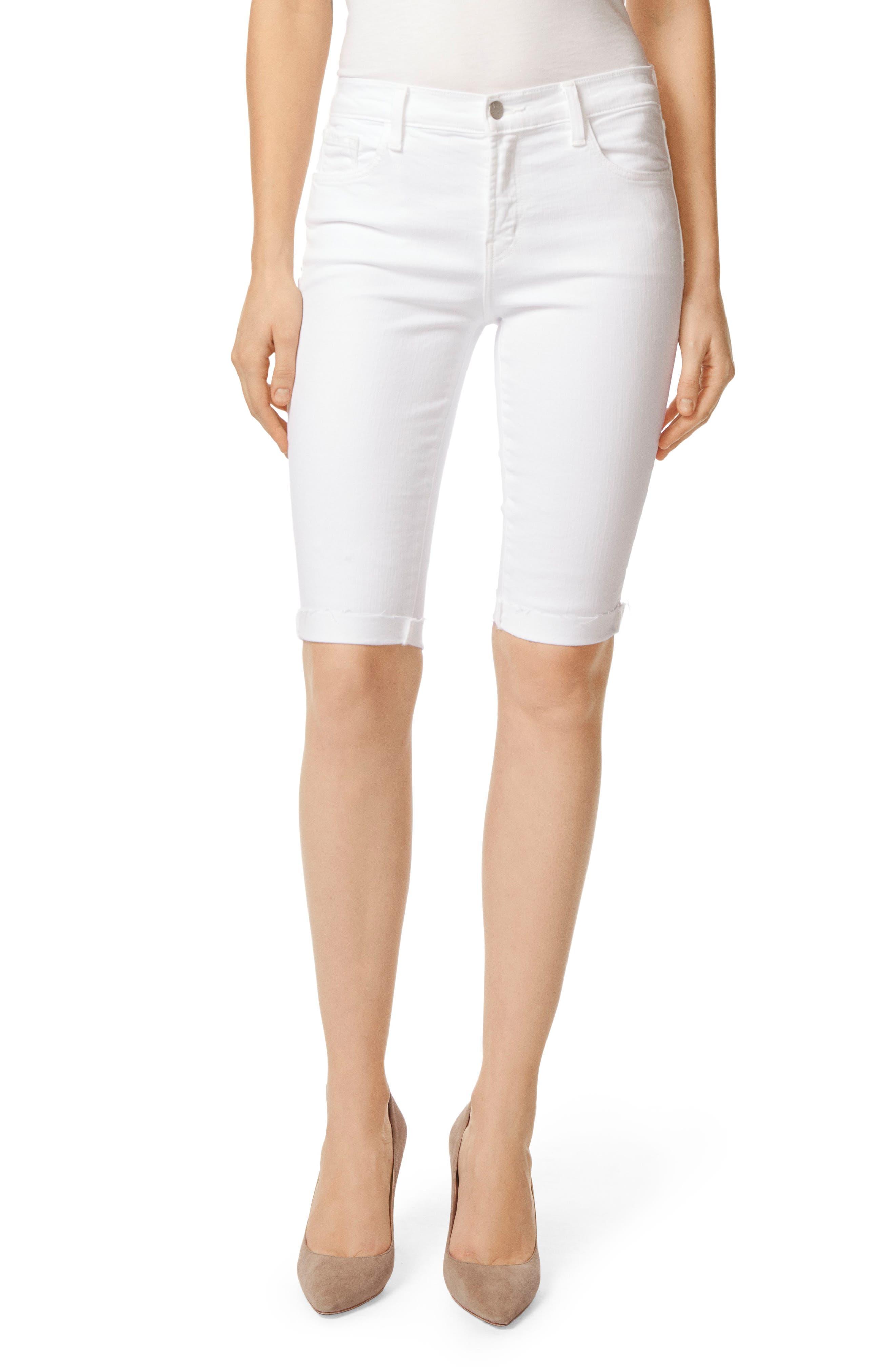 811 Skinny Bermuda Shorts,                         Main,                         color, Blanc