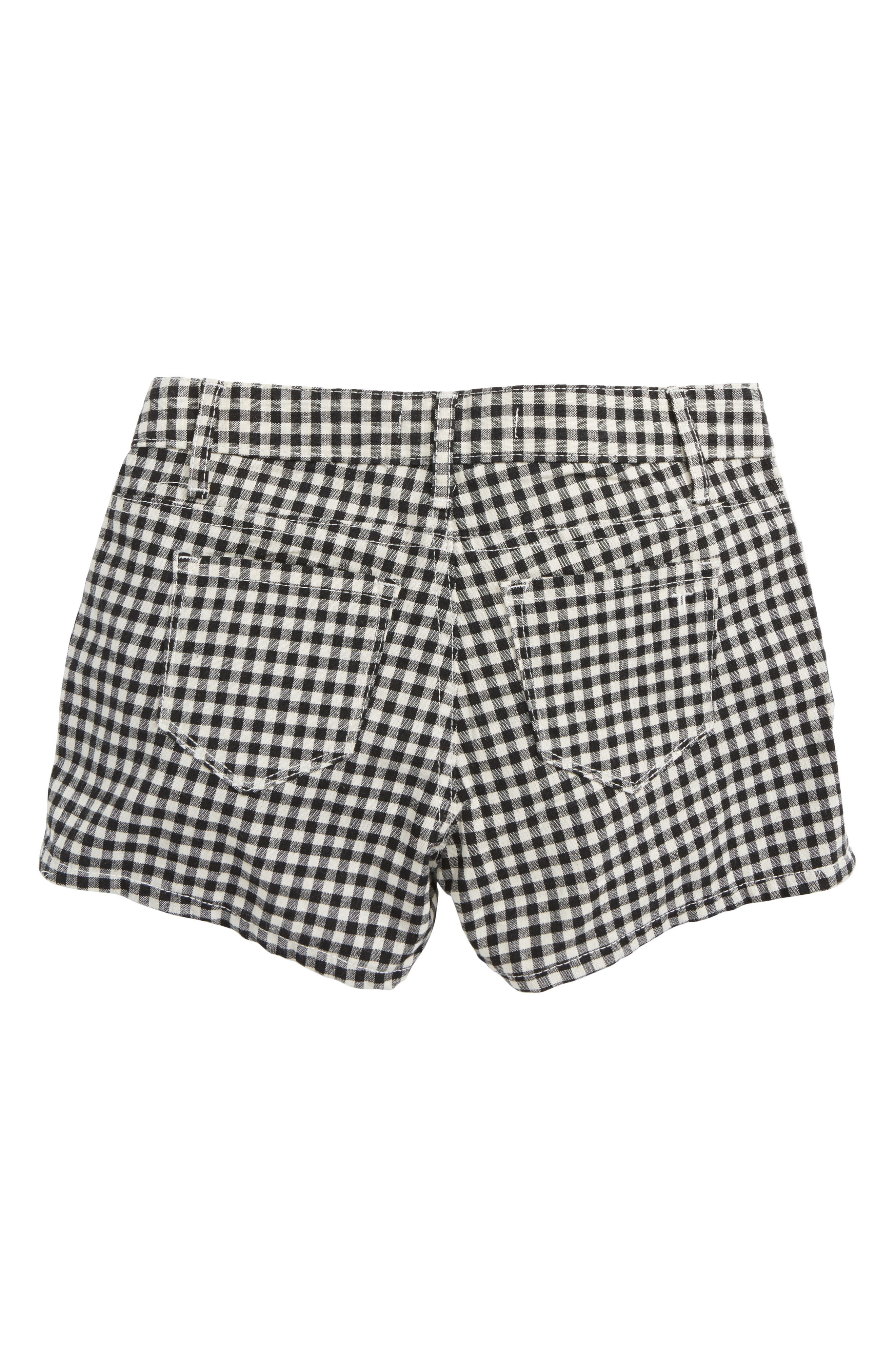 Alternate Image 2  - Tractr Gingham Shorts (Big Girls)
