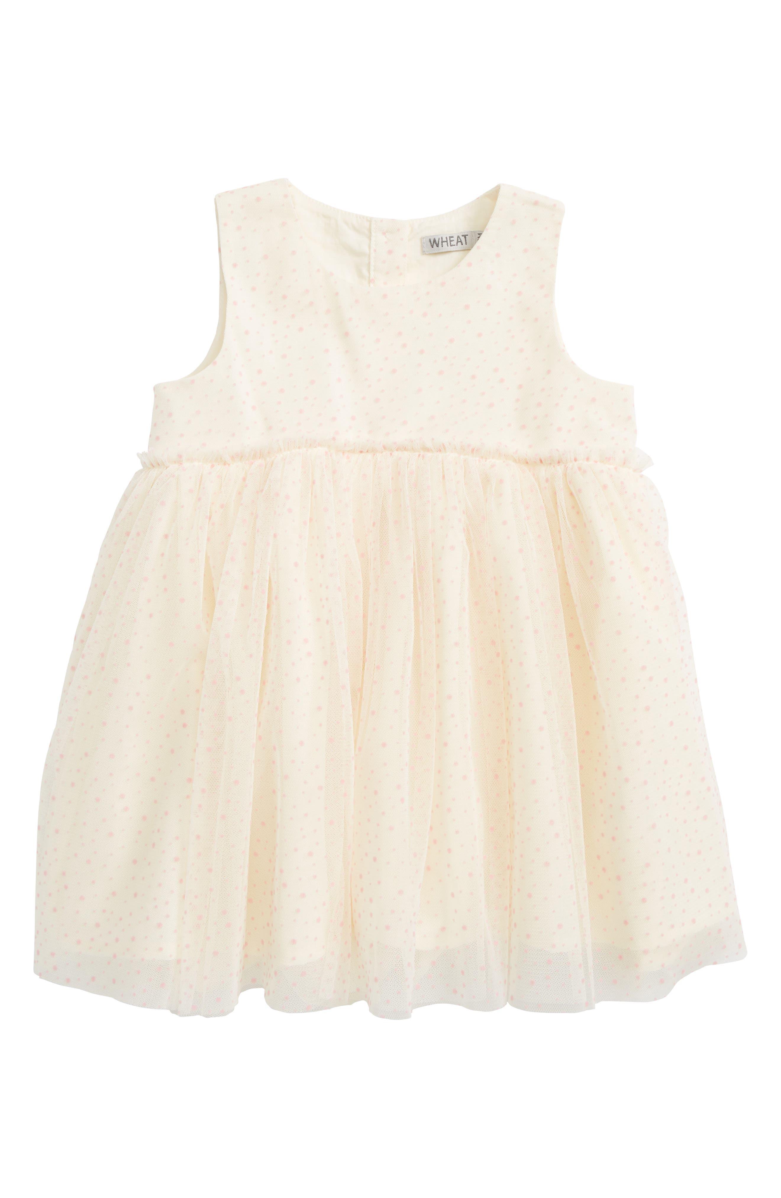 Vilna Tulle Dress,                         Main,                         color, Eggshell