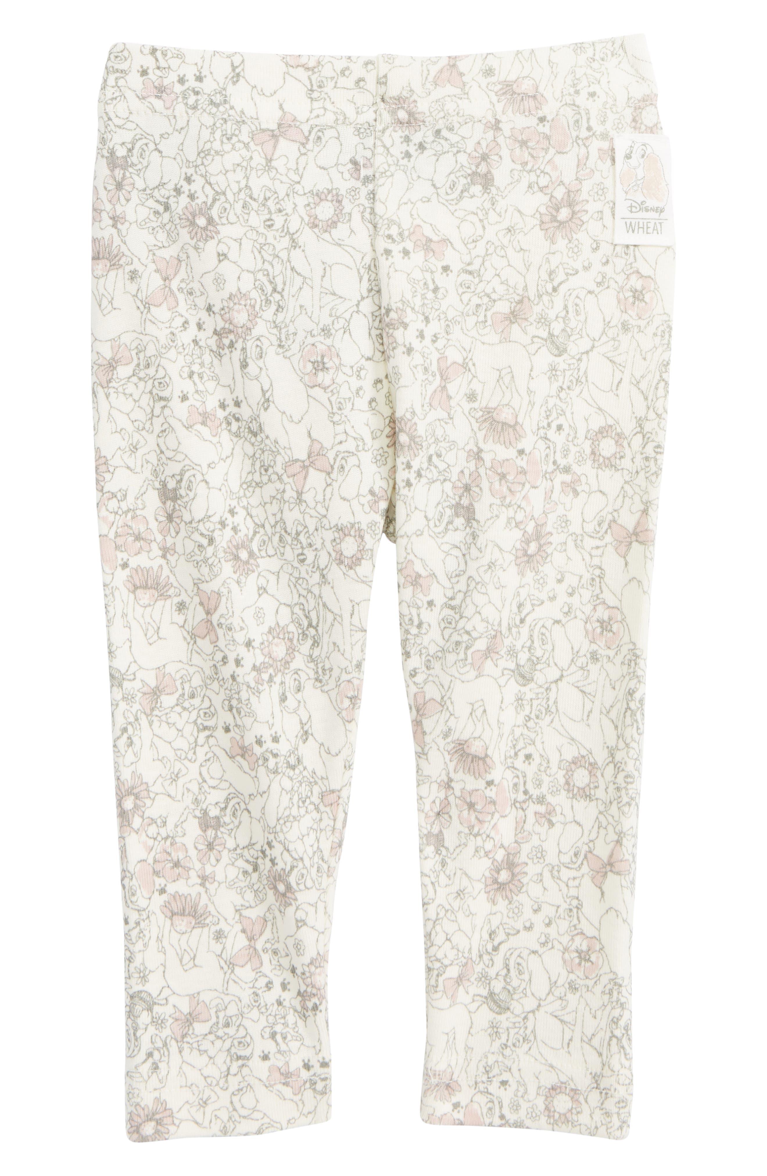 Disney 'Lady & the Tramp' Organic Cotton Leggings,                         Main,                         color, Ivory