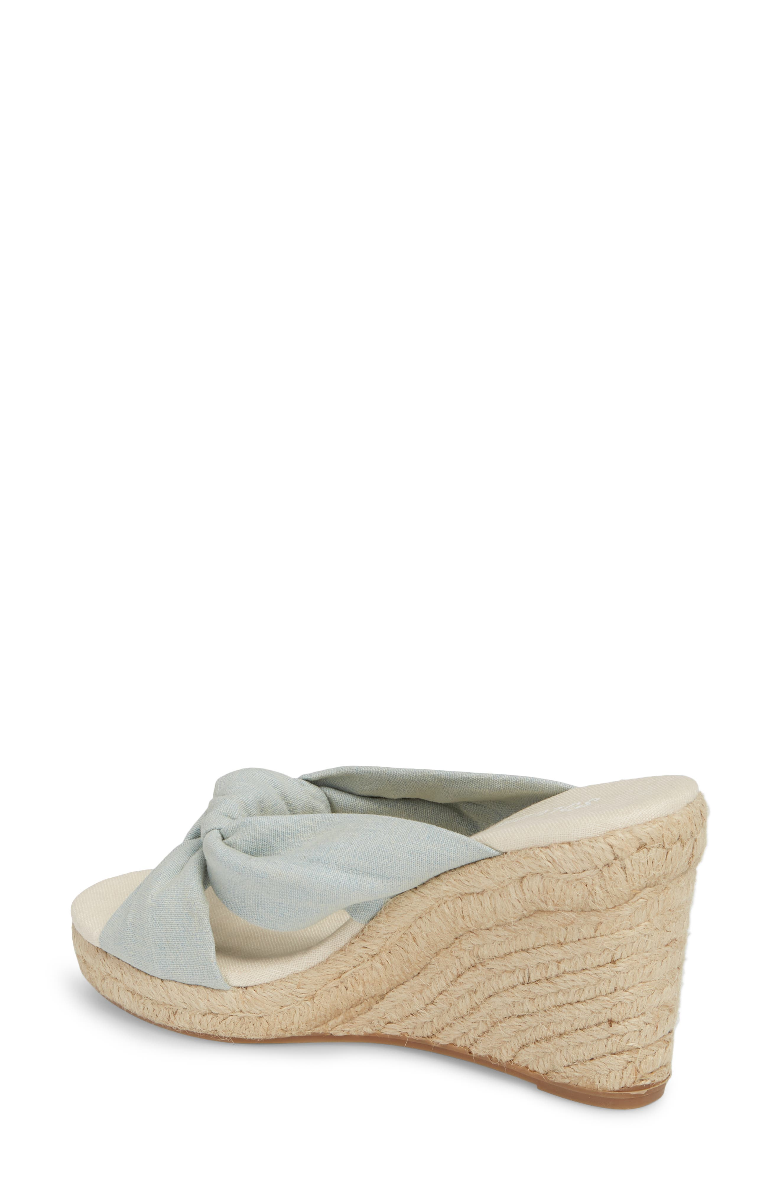 Knotted Espadrille Wedge Sandal,                             Alternate thumbnail 2, color,                             Chambray
