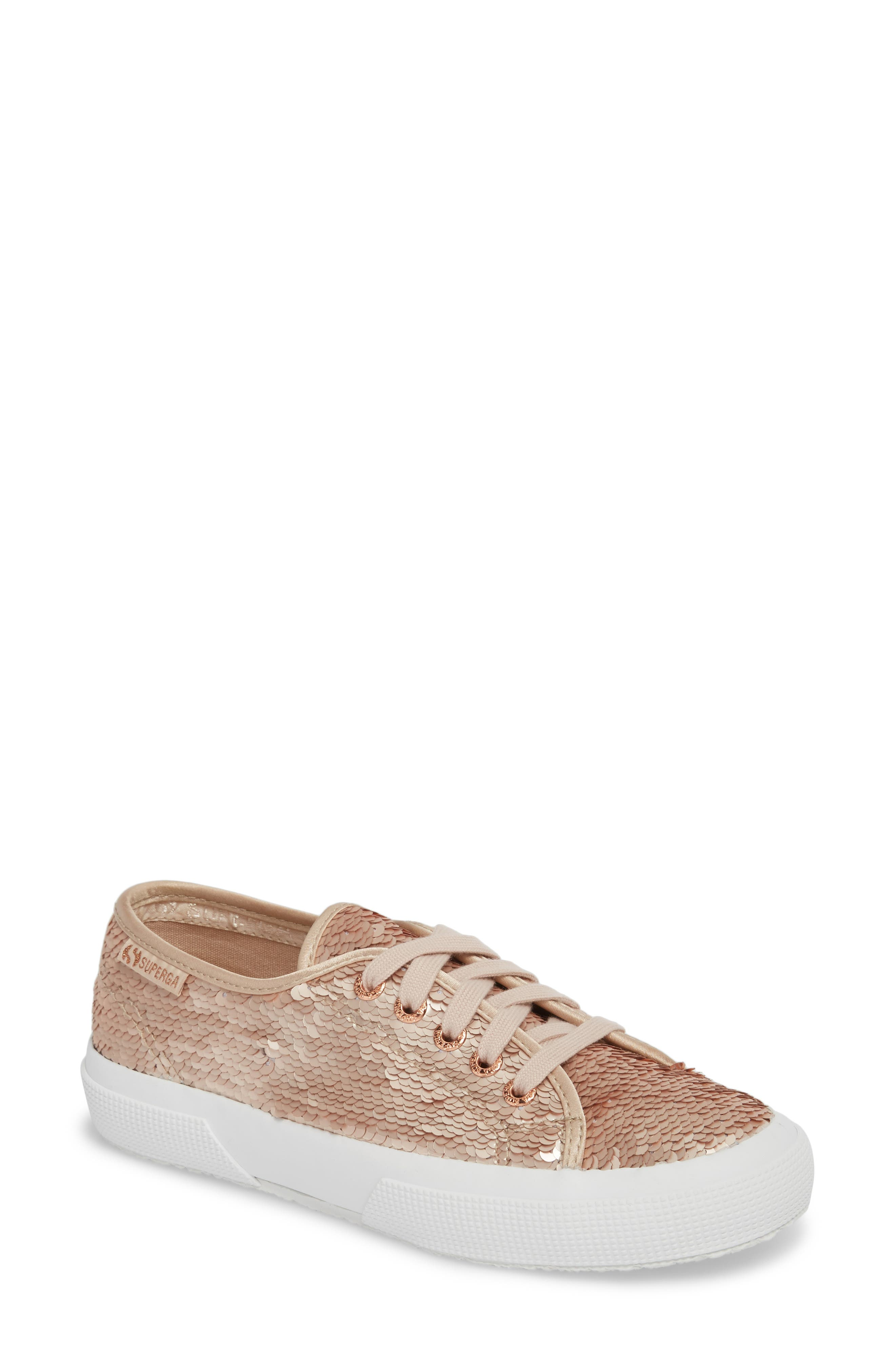 2750 Pairidescent Low Top Sneaker,                             Main thumbnail 1, color,                             Rose Gold/ Rose Gold