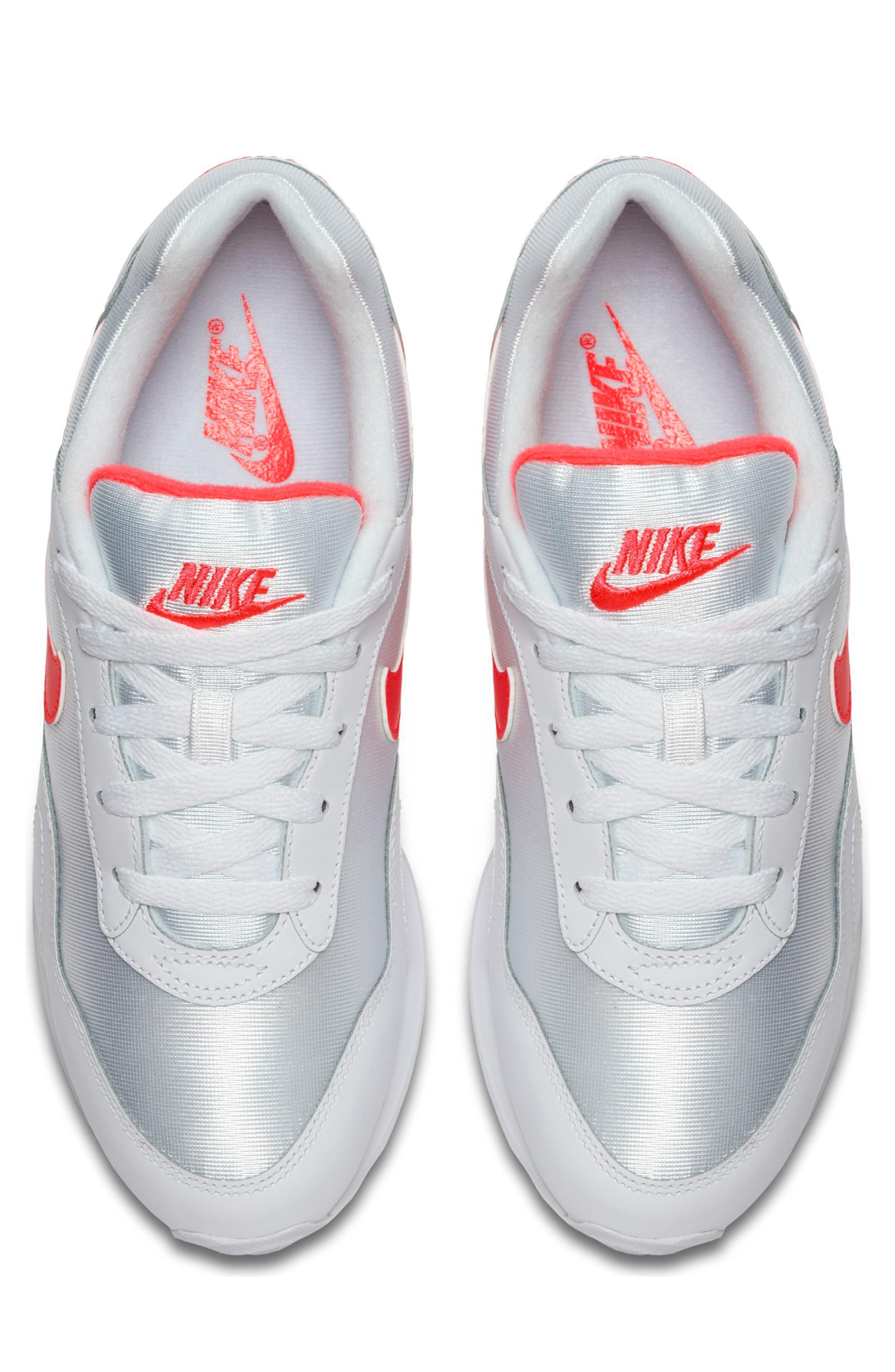 Outburst OG Sneaker,                             Alternate thumbnail 4, color,                             White/ Solar Red