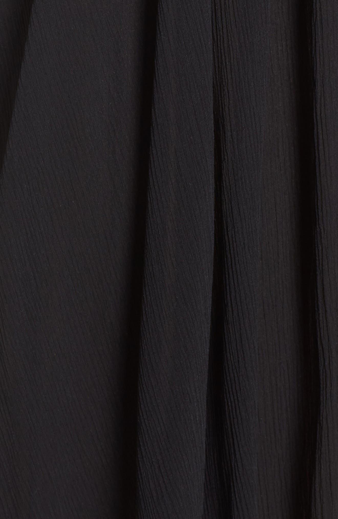 Classic Smocked Chiffon Dress,                             Alternate thumbnail 6, color,                             Black