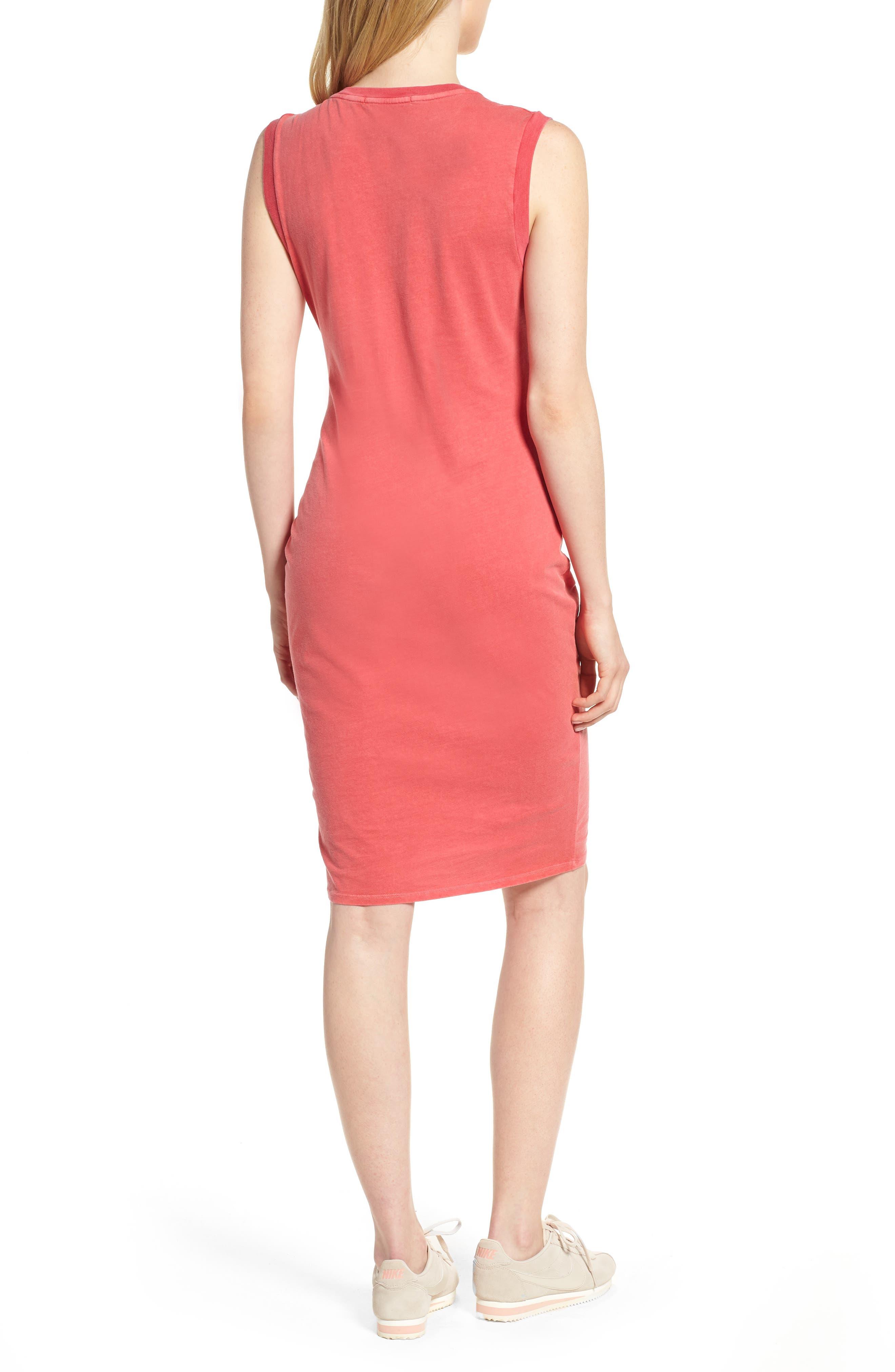 Twist Jersey Dress,                             Alternate thumbnail 2, color,                             Scarlet