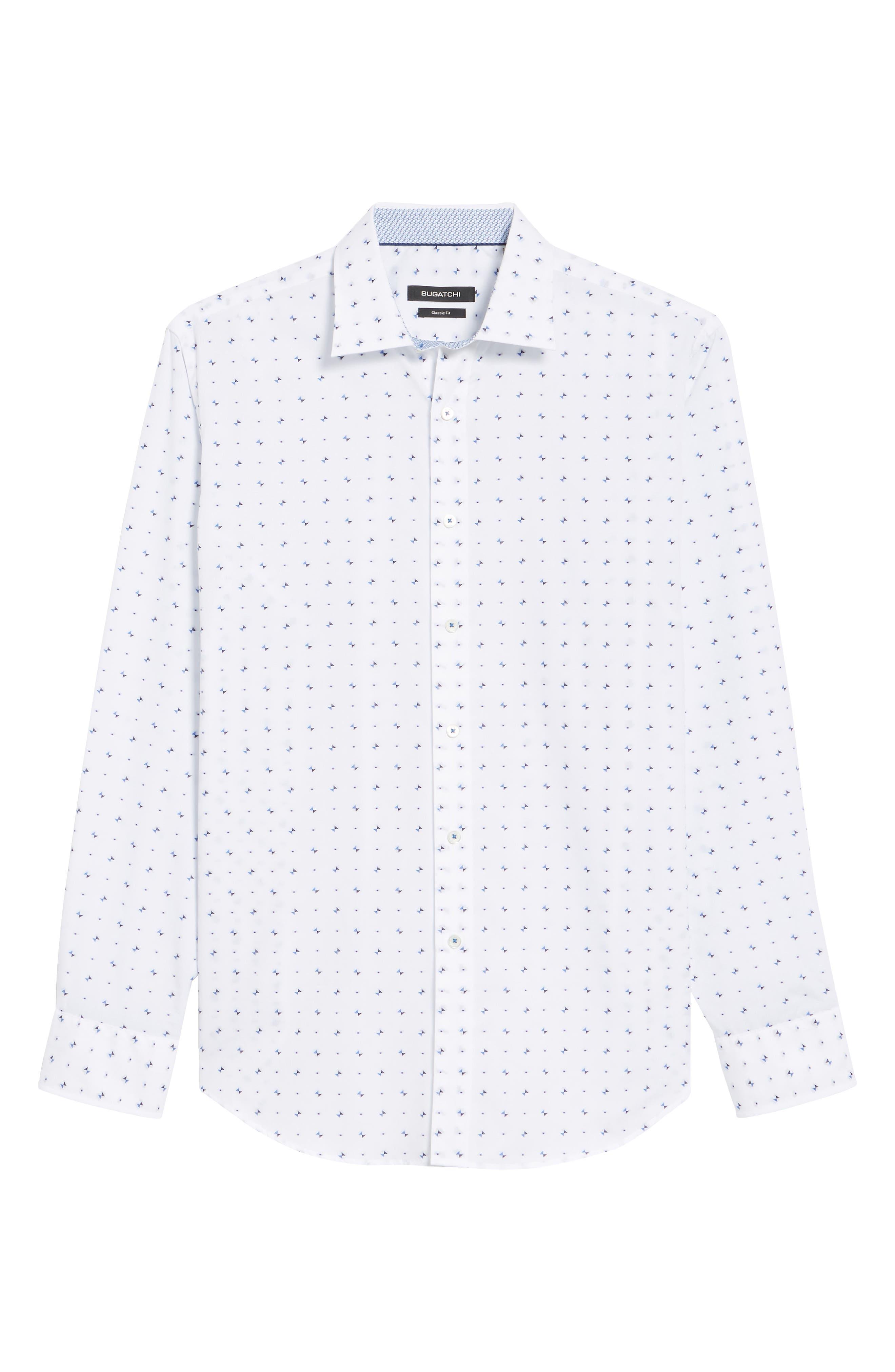 Classic Fit Woven Sport Shirt,                             Alternate thumbnail 6, color,                             White
