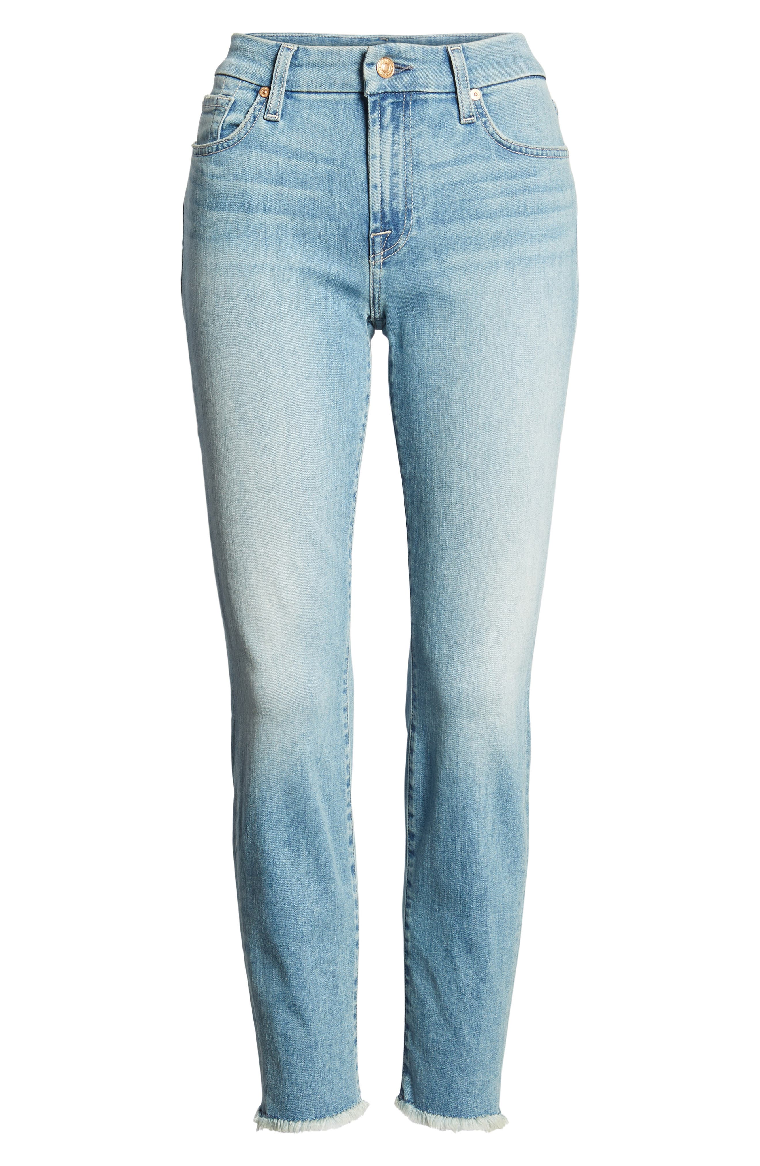Kimmie Crop Straight Leg Jeans,                             Alternate thumbnail 7, color,                             Desert Heights