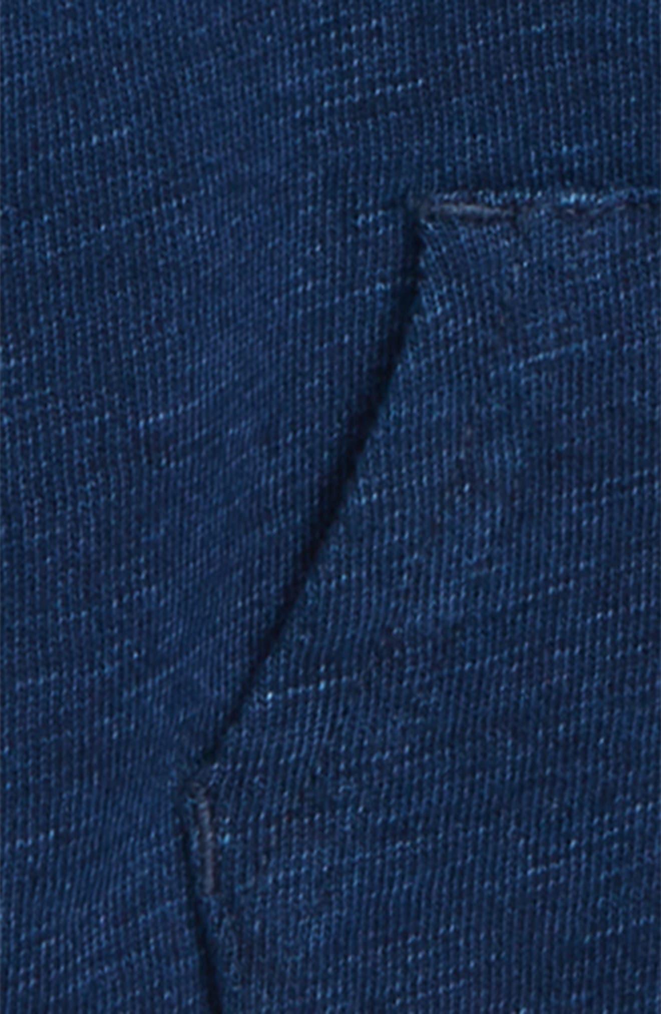 Double Knit Zip Hoodie,                             Alternate thumbnail 2, color,                             Dark Stone/ Indigo