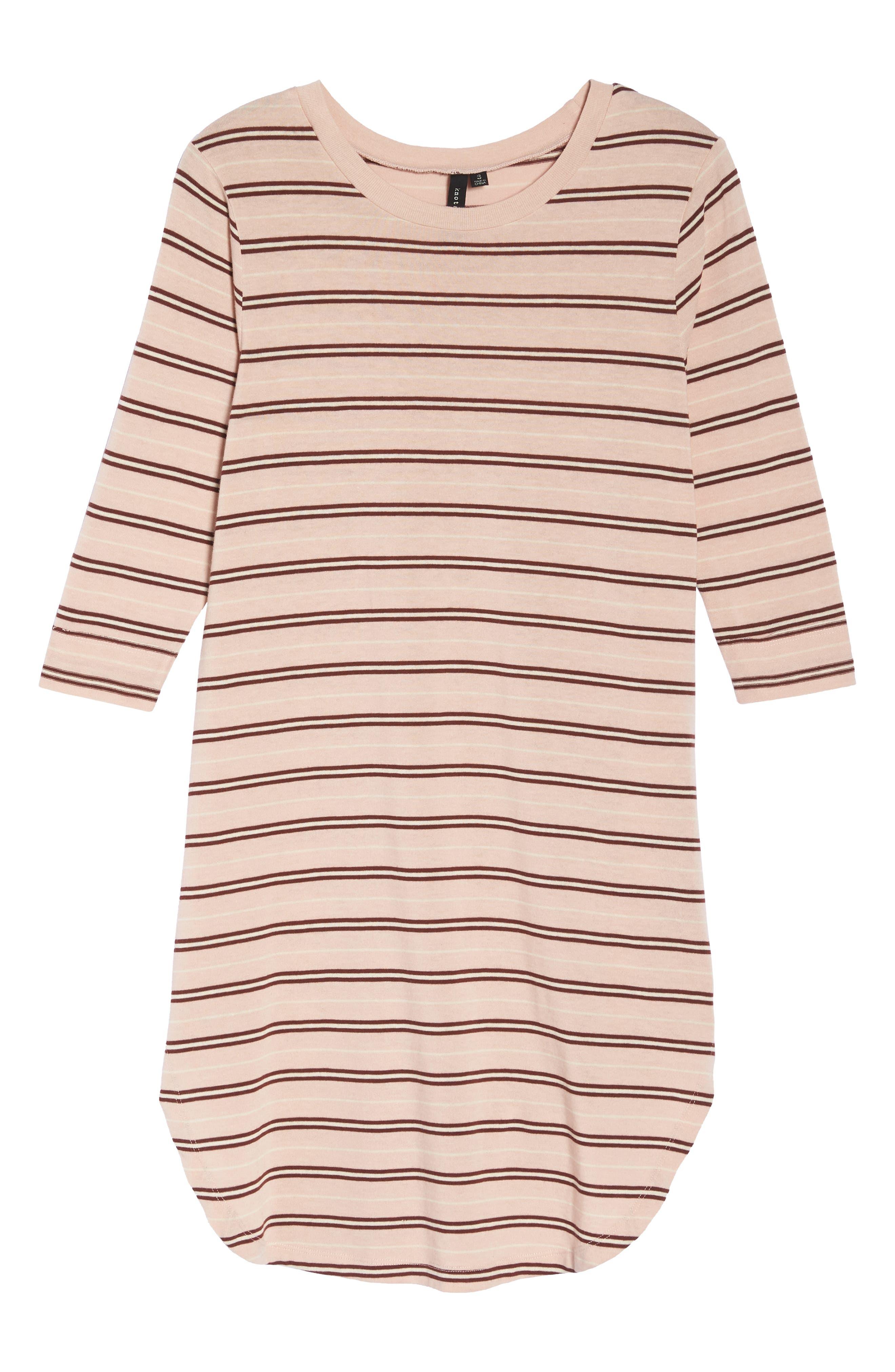 Saul Tunic Dress,                             Alternate thumbnail 7, color,                             Blush 90S Stripe