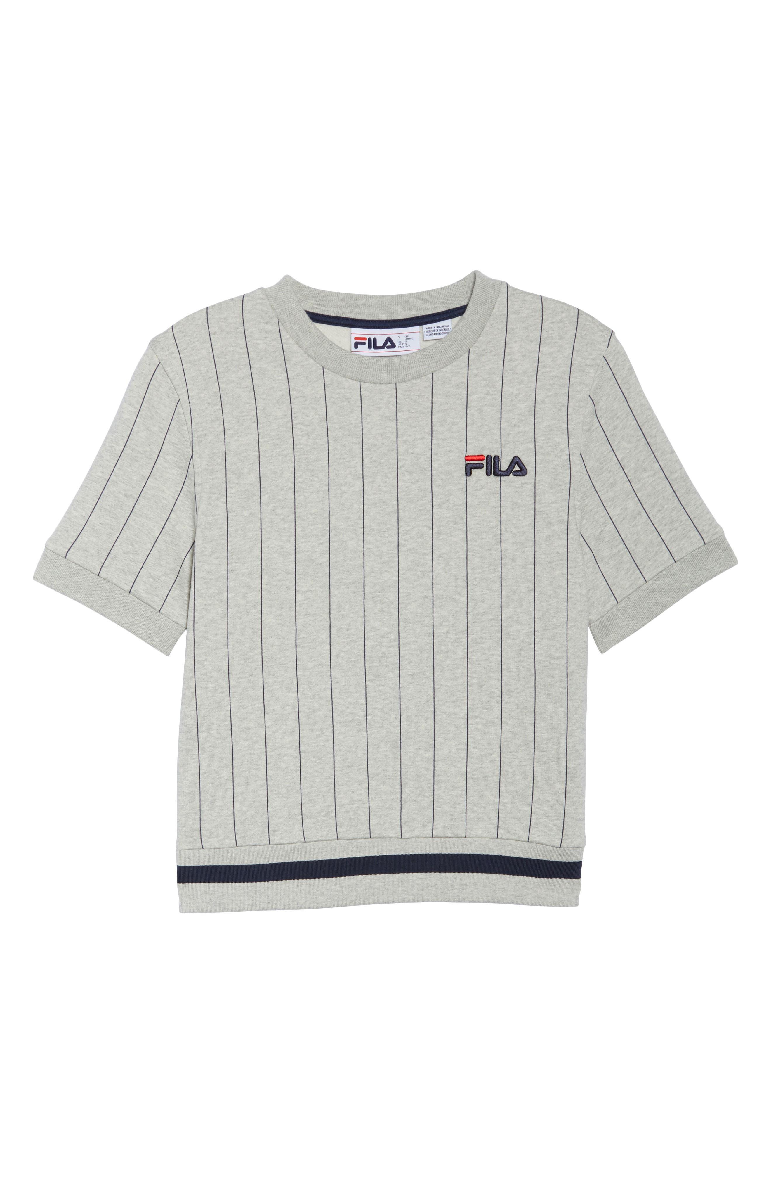 Bren Stripe Sweatshirt,                             Alternate thumbnail 8, color,                             Light Grey Marl/ Peacoat