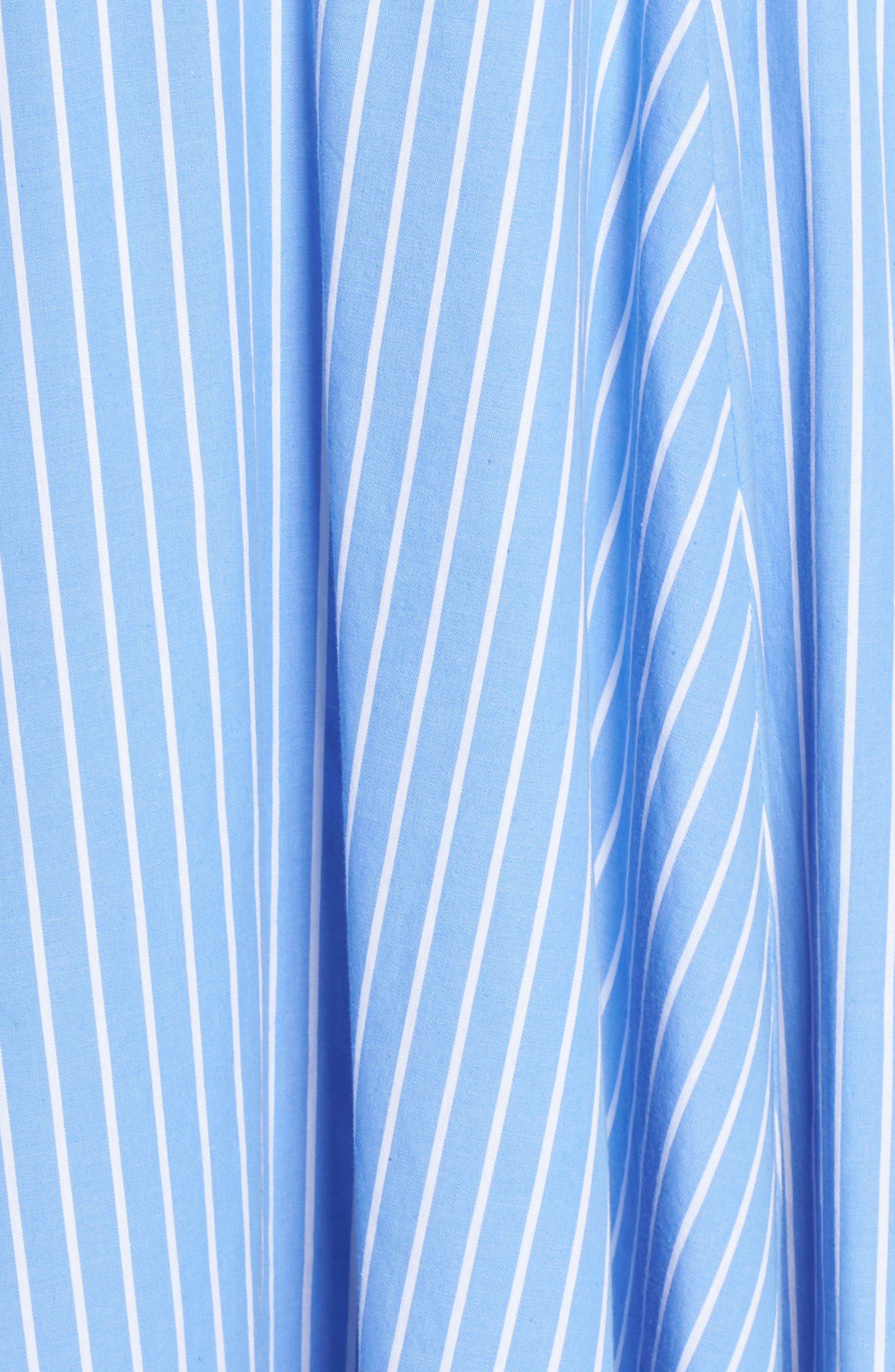 Morrow Stripe Corset Gown,                             Alternate thumbnail 6, color,                             Pale Blue/ White Stripe