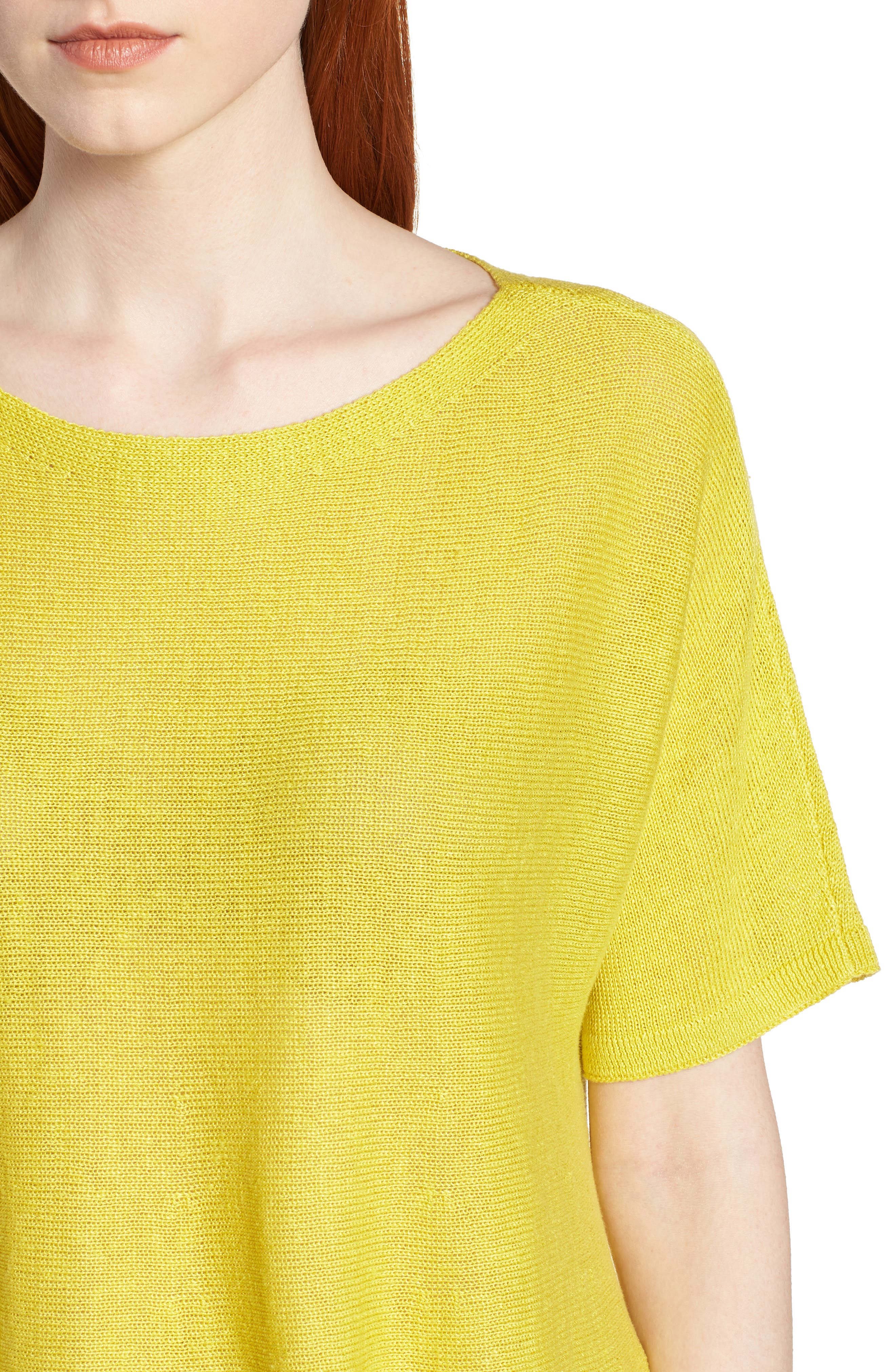 Organic Linen Knit Top,                             Alternate thumbnail 4, color,                             Yarrow